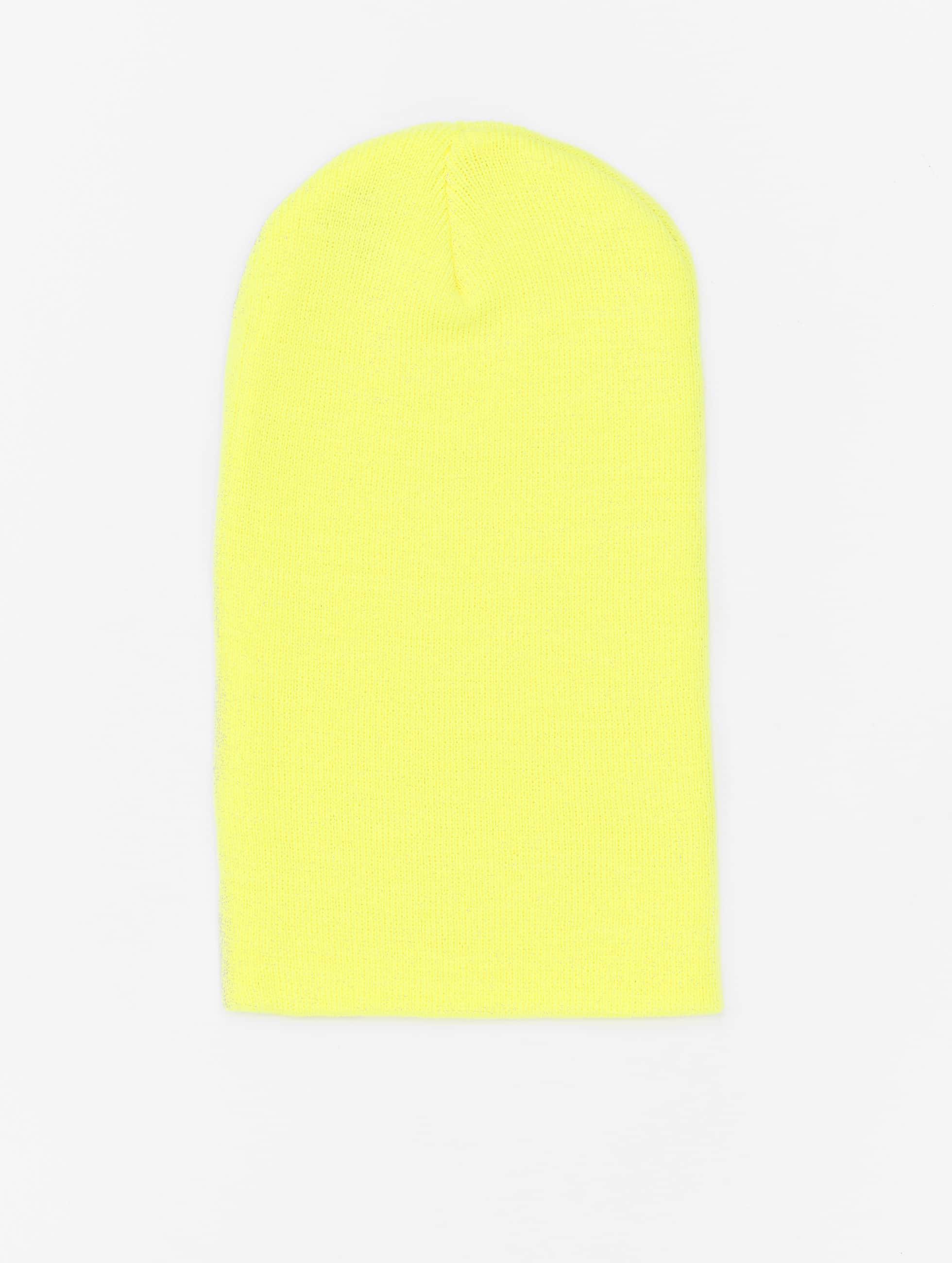 Beanie Basic Flap Long in gelb