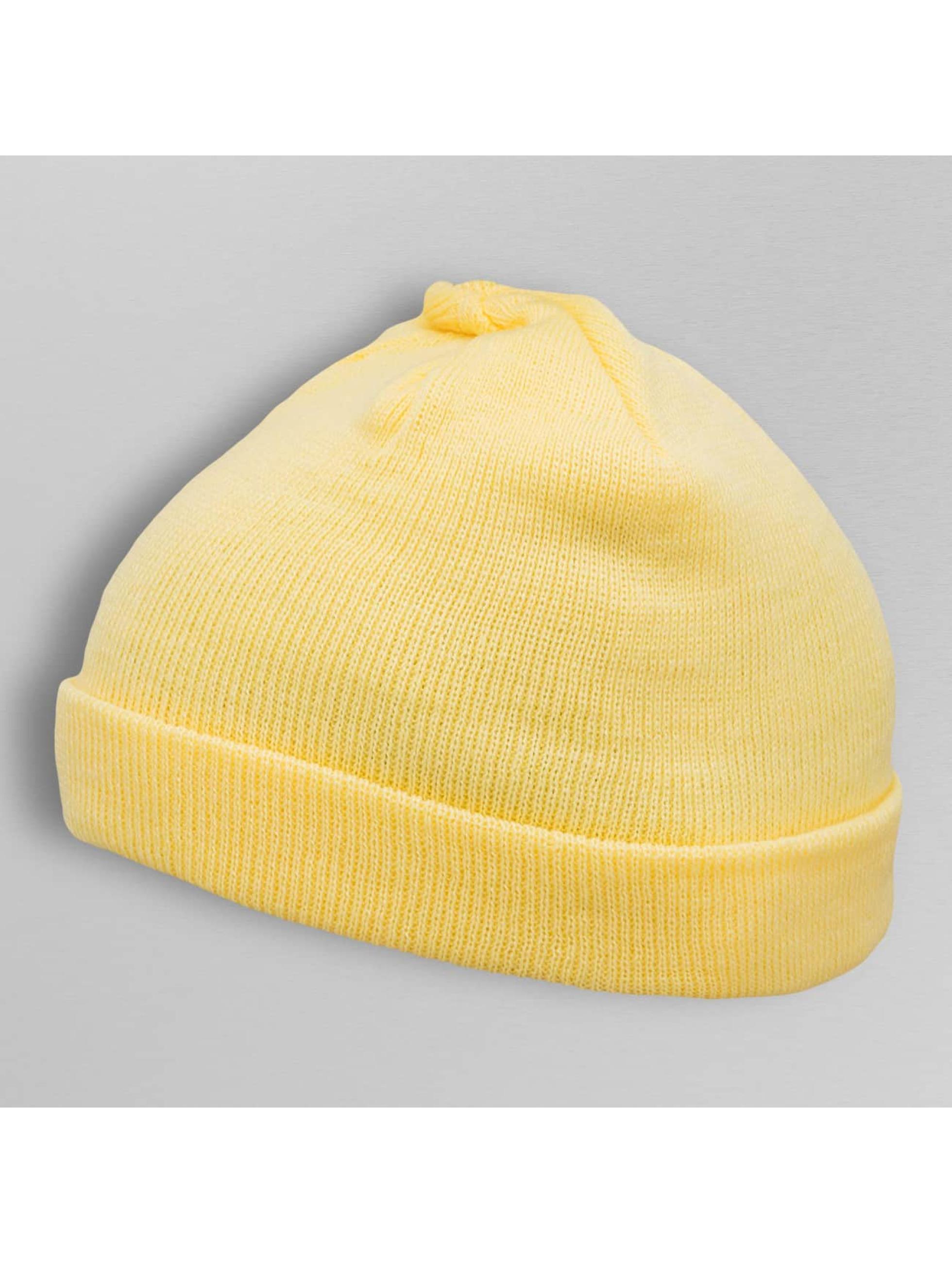MSTRDS Beanie Short Pastel Cuff Knit gelb