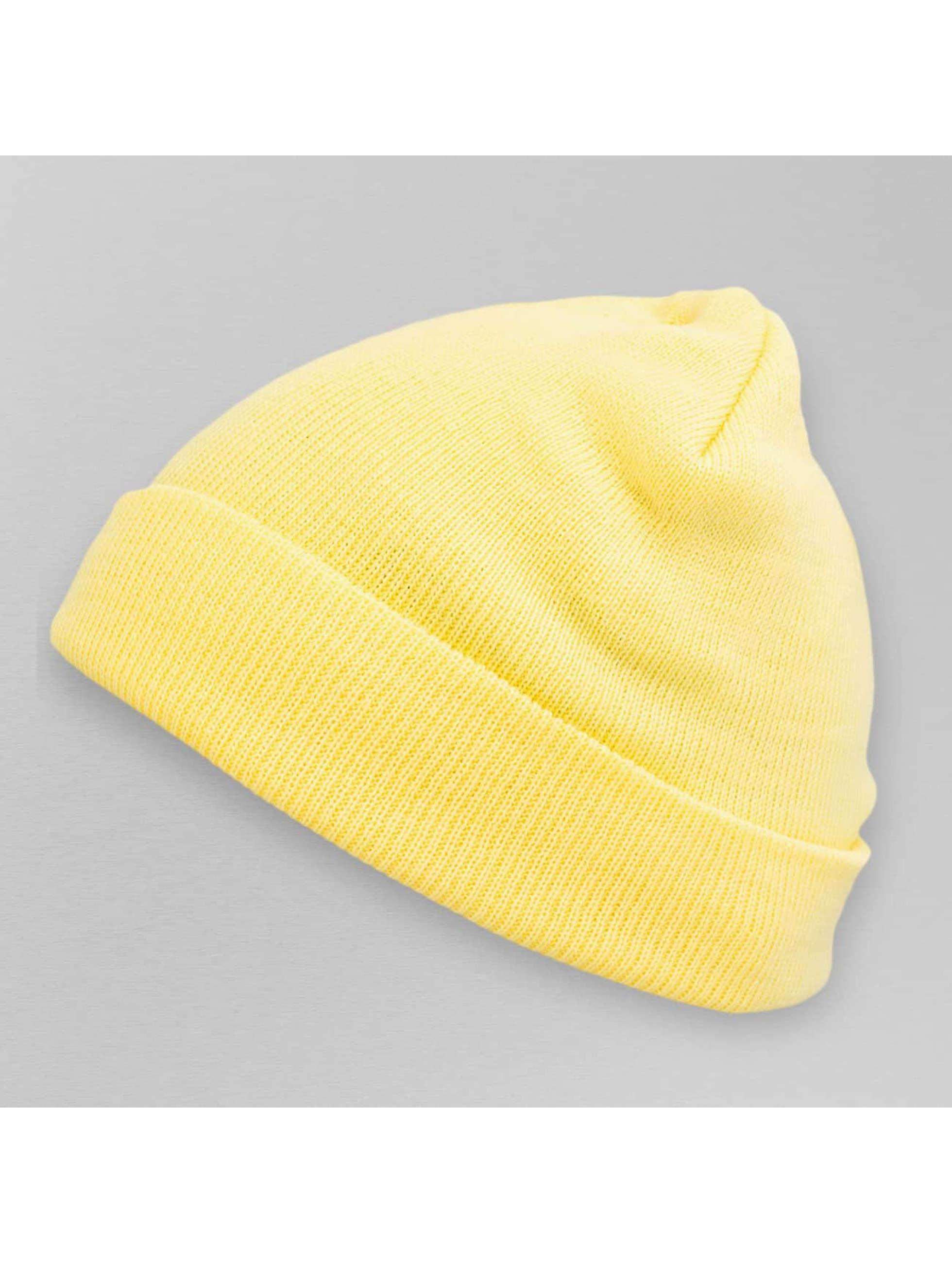 MSTRDS Beanie Pastel Basic Flap gelb