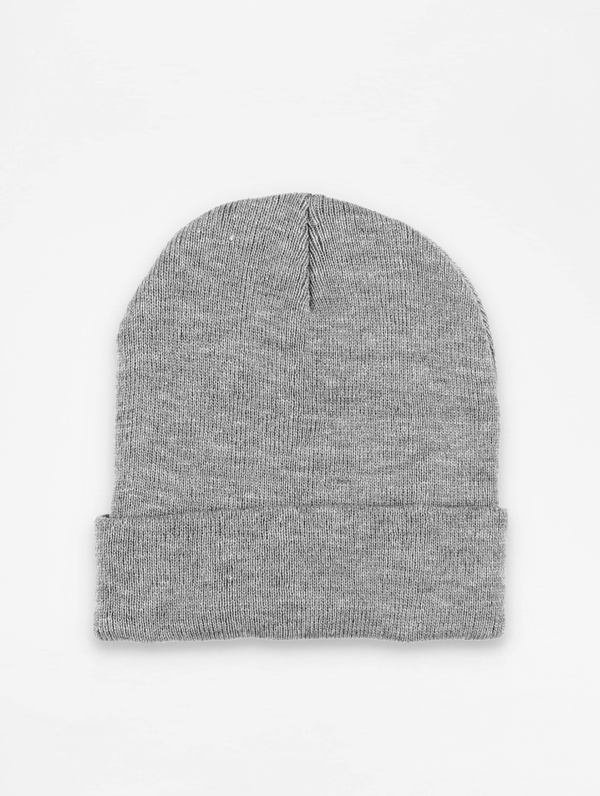 Beanie Basic Flap in grau