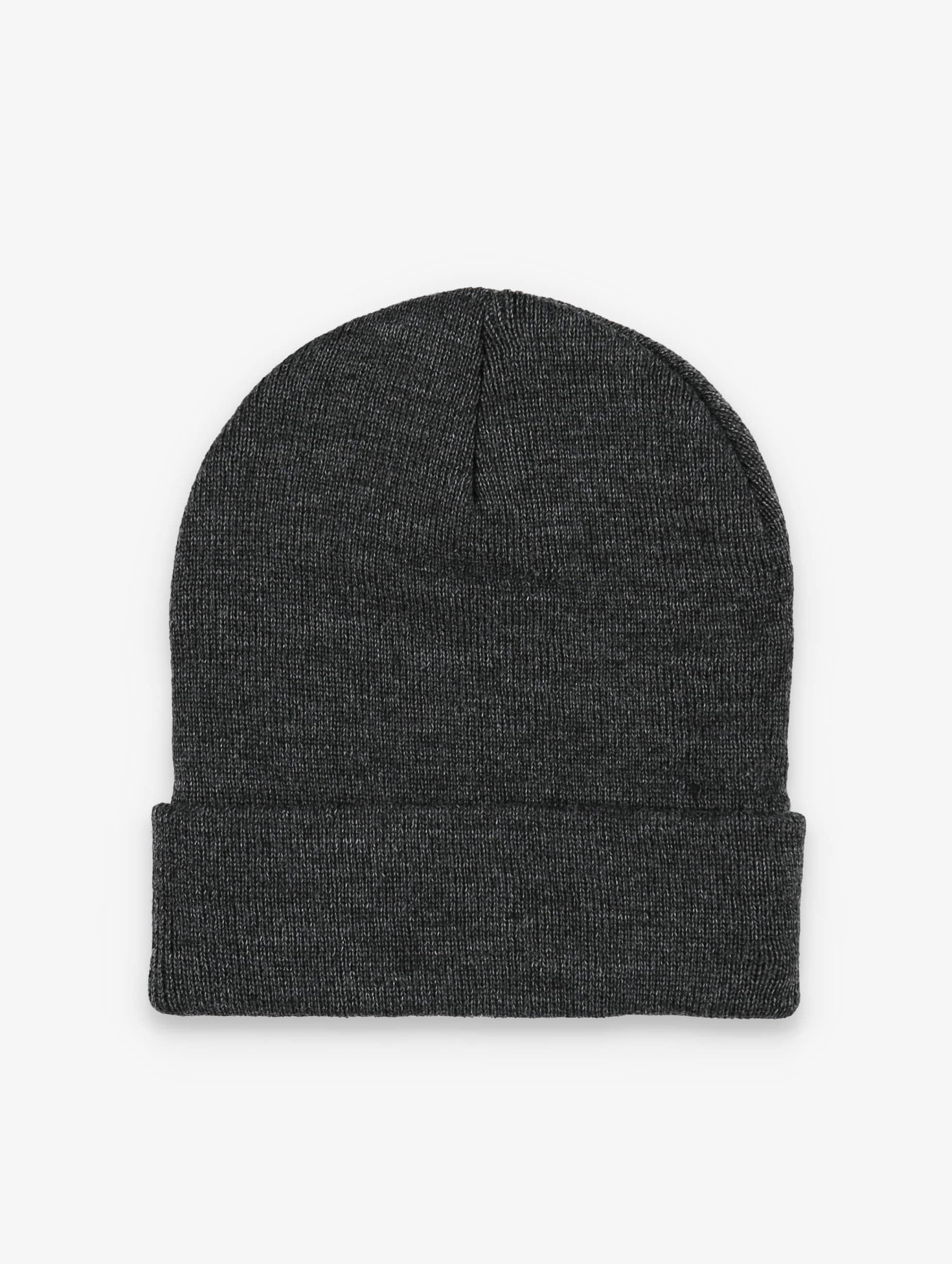 MSTRDS Beanie Basic Flap grijs