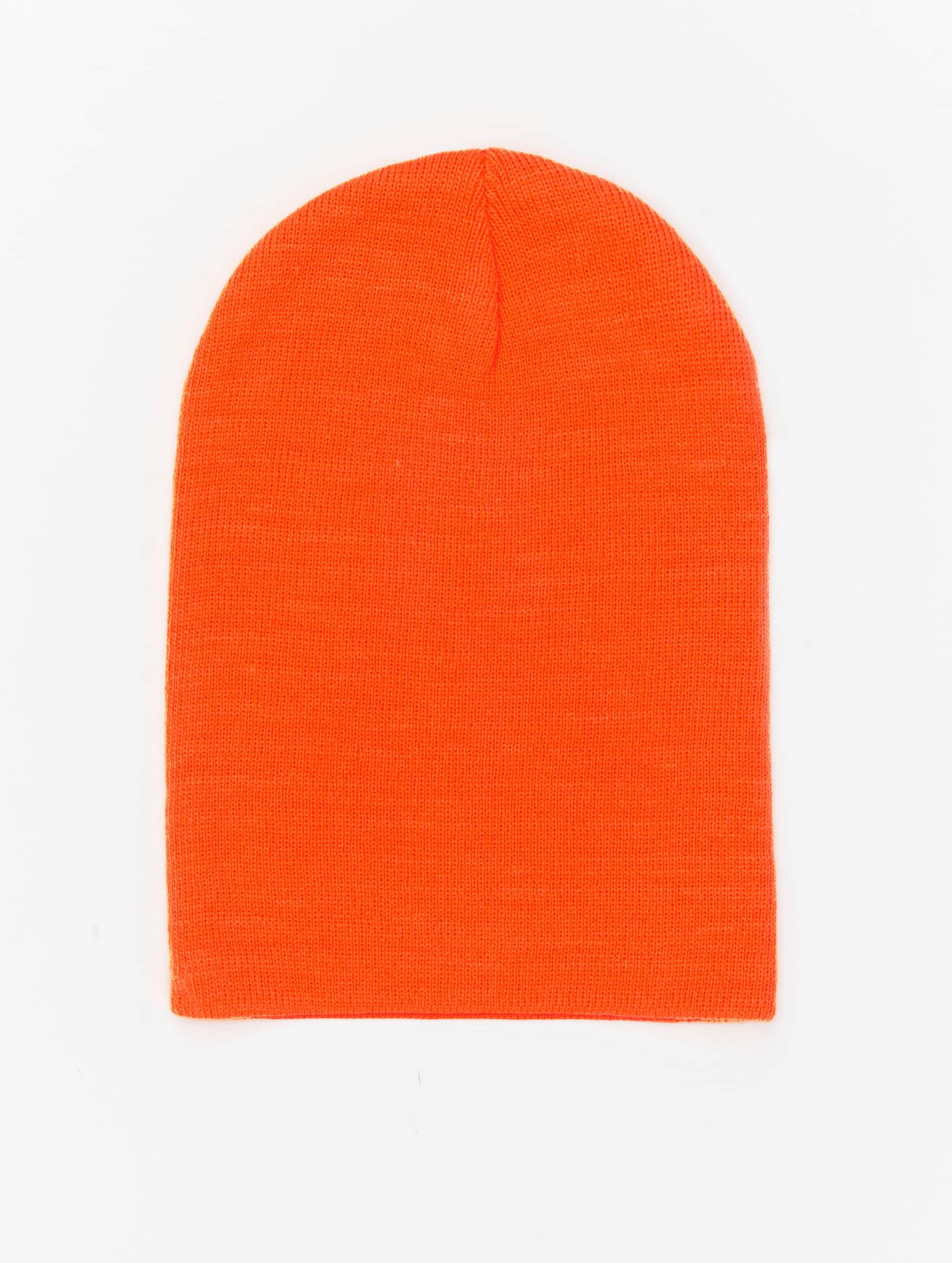 MSTRDS Beanie Basic Flap orange