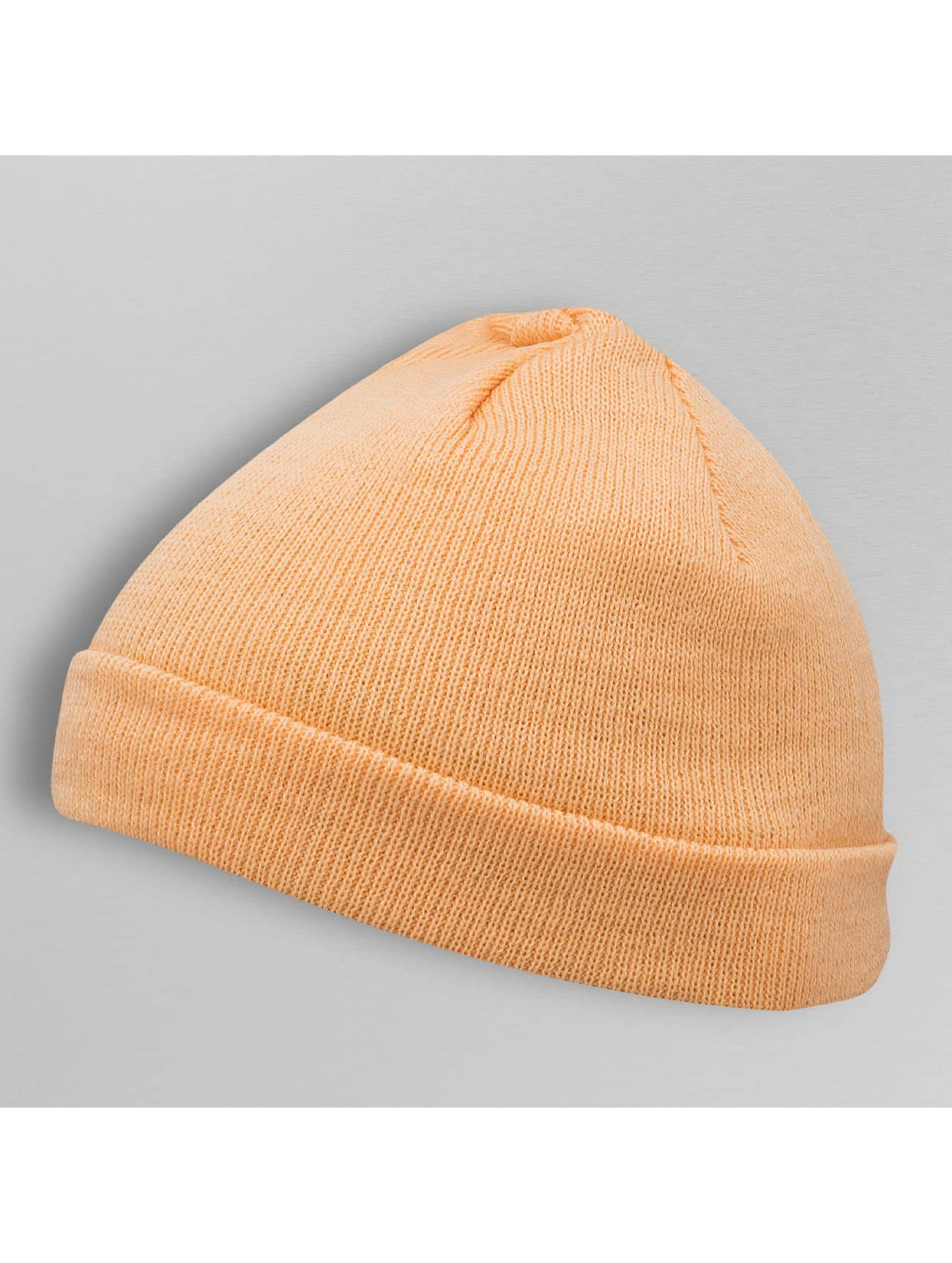 MSTRDS Beanie Short Pastel Cuff Knit orange