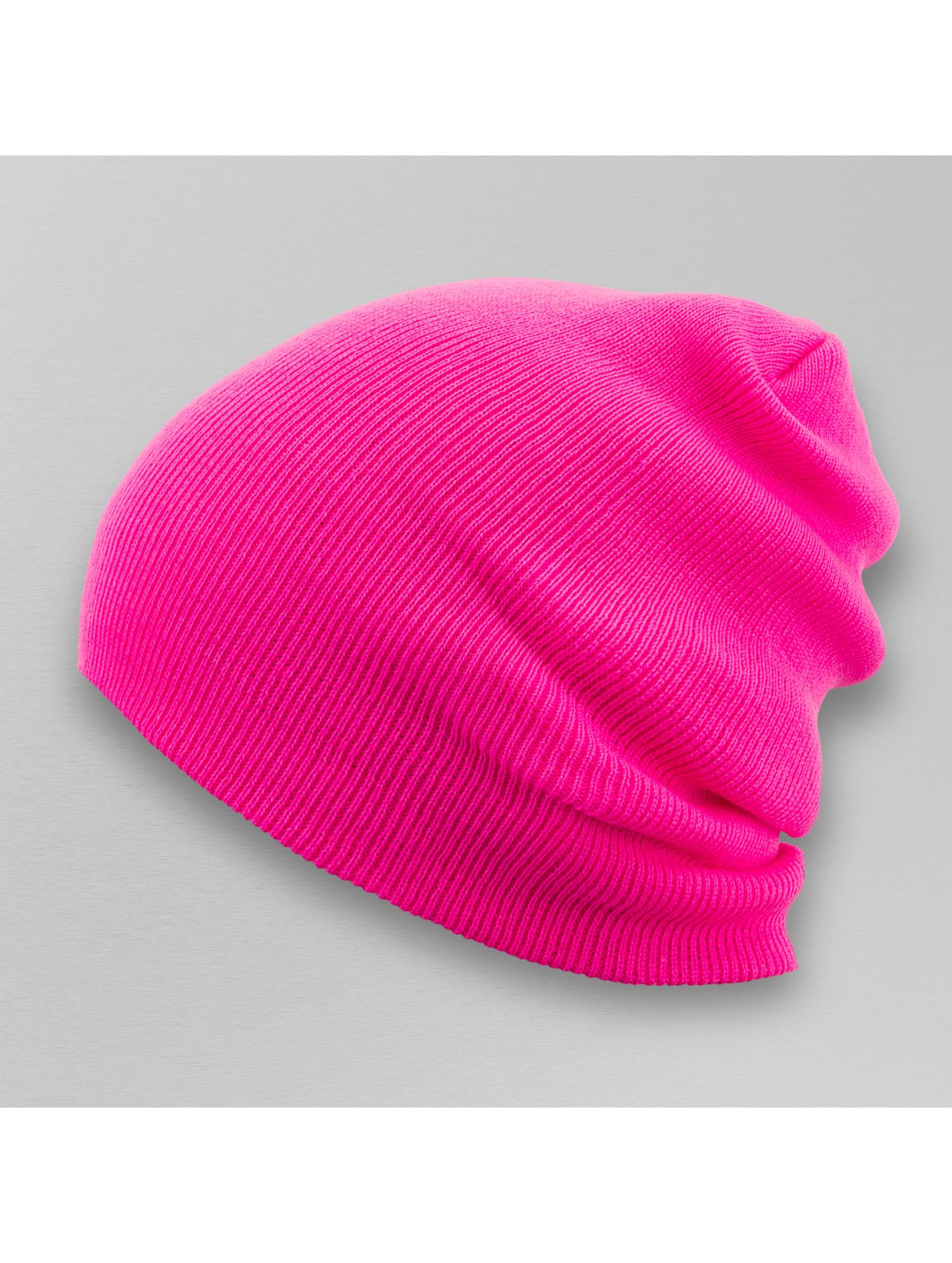 MSTRDS Beanie Basic Flap Long pink