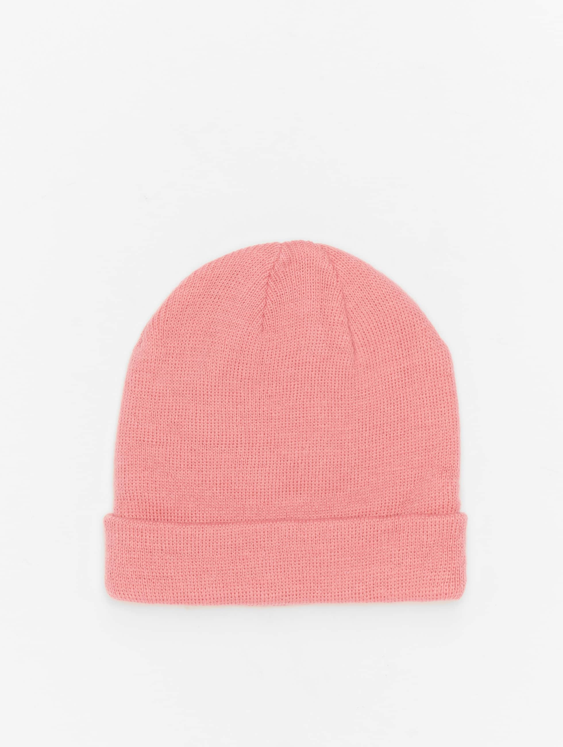 MSTRDS Beanie Short Pastel Cuff Knit pink