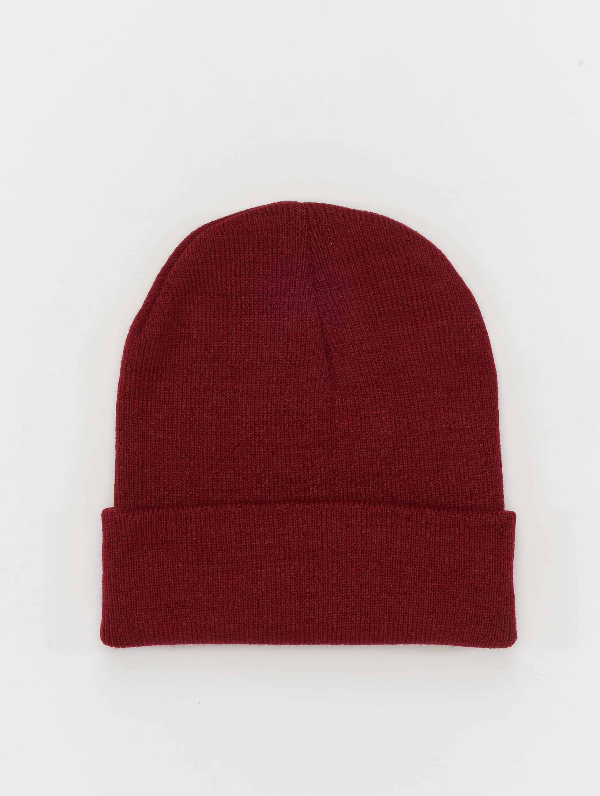 MSTRDS Beanie Basic Flap rood