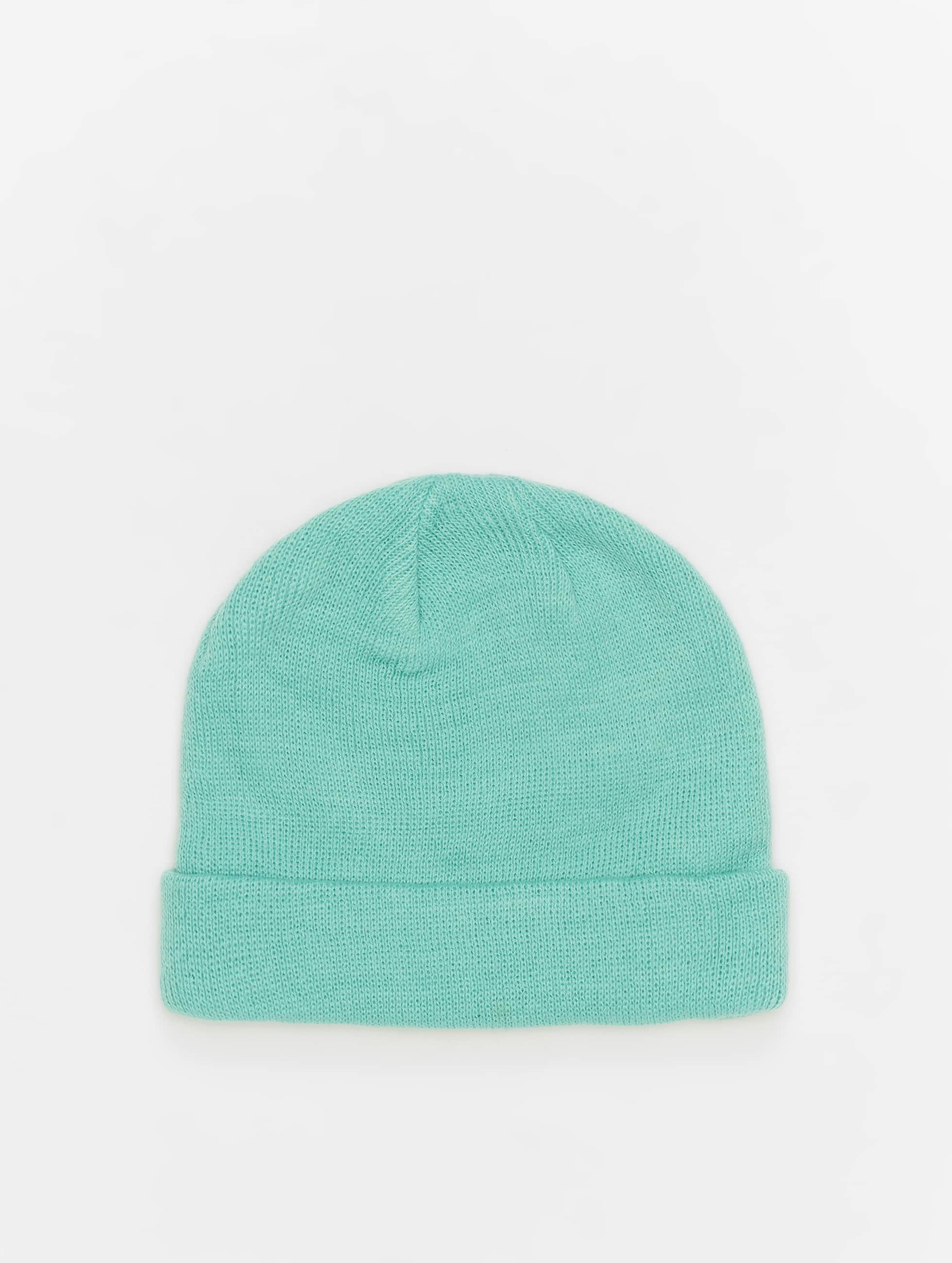 MSTRDS Beanie Short Pastel Cuff Knit turquois
