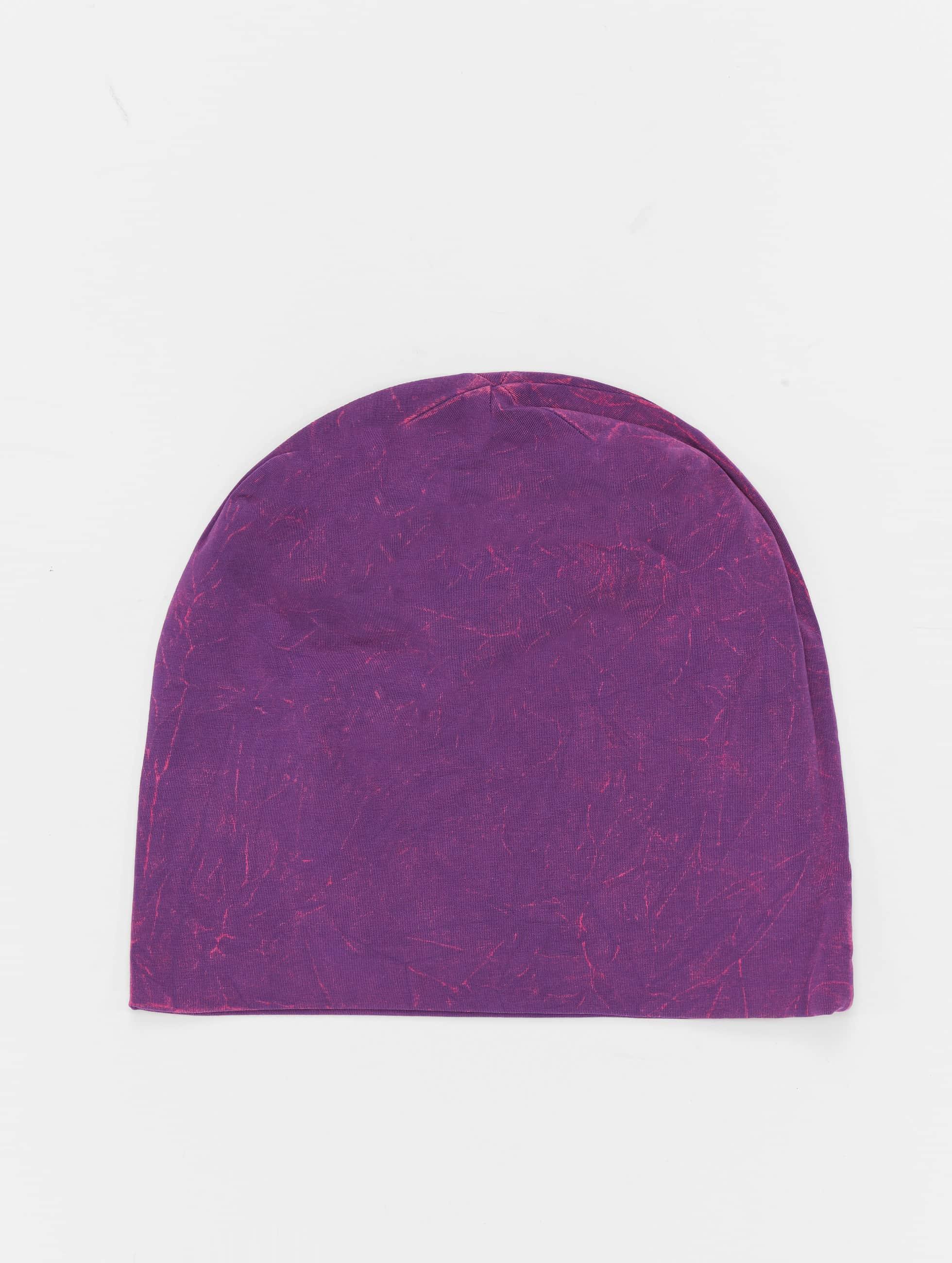 MSTRDS Beanie Stonewashed Jersey violet
