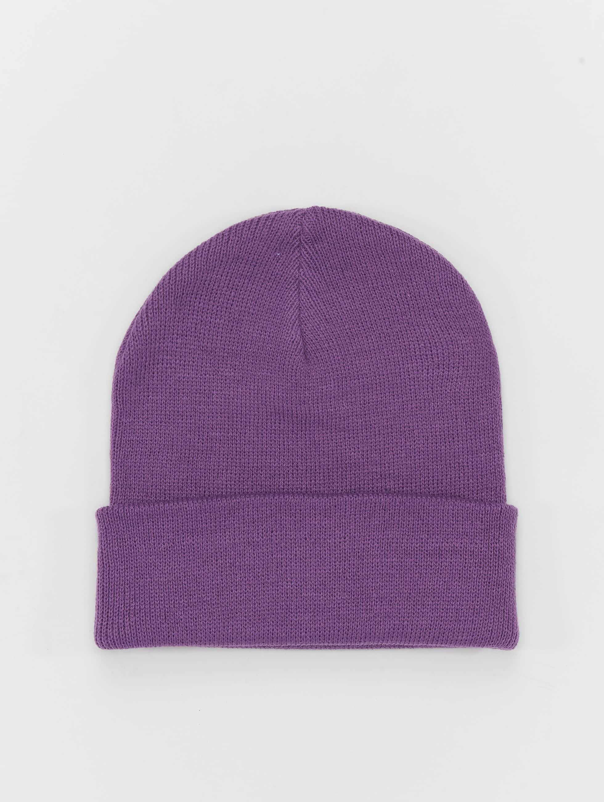 MSTRDS Beanie Basic Flap violet