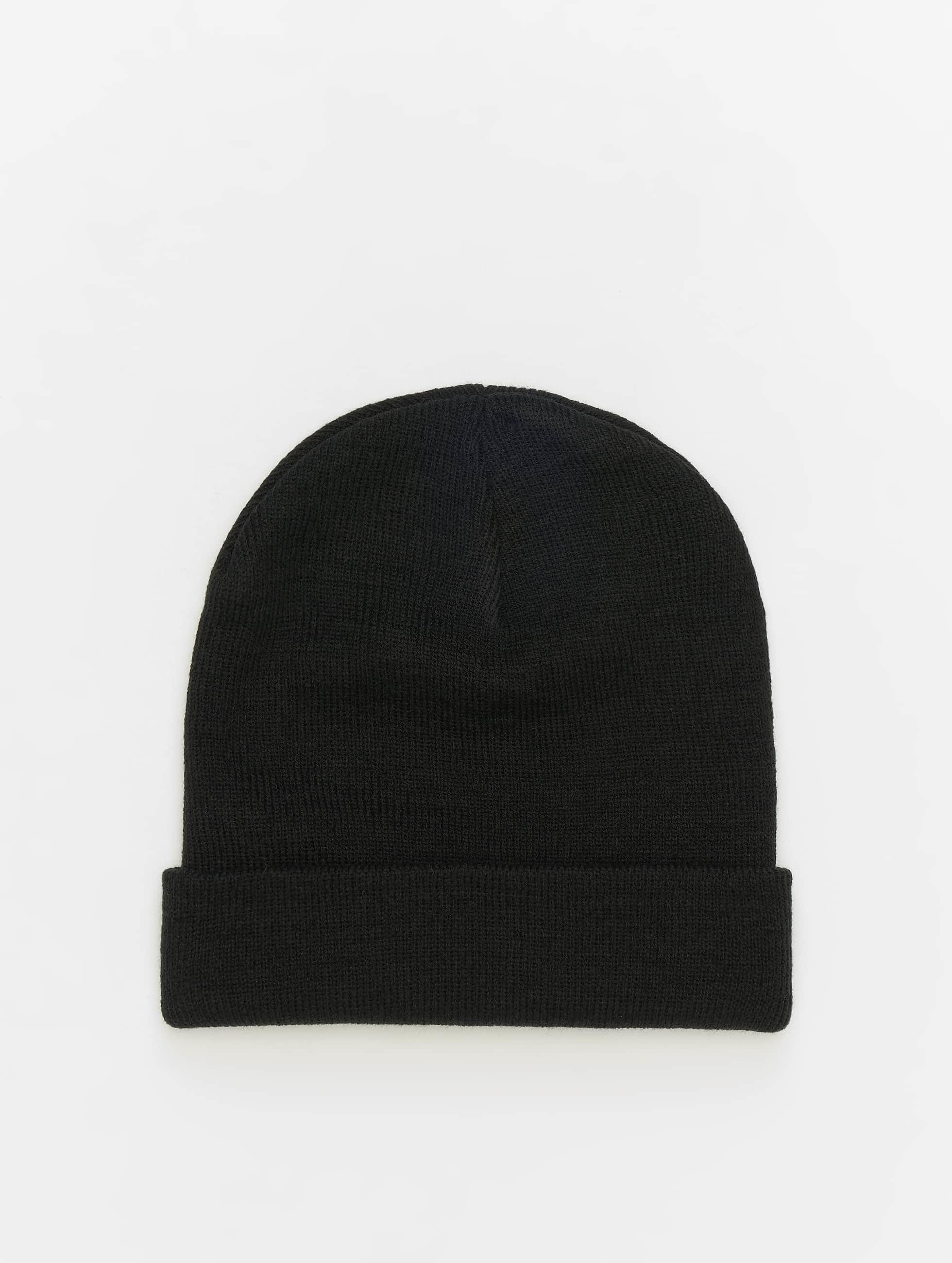 MSTRDS Beanie Basic Flap zwart