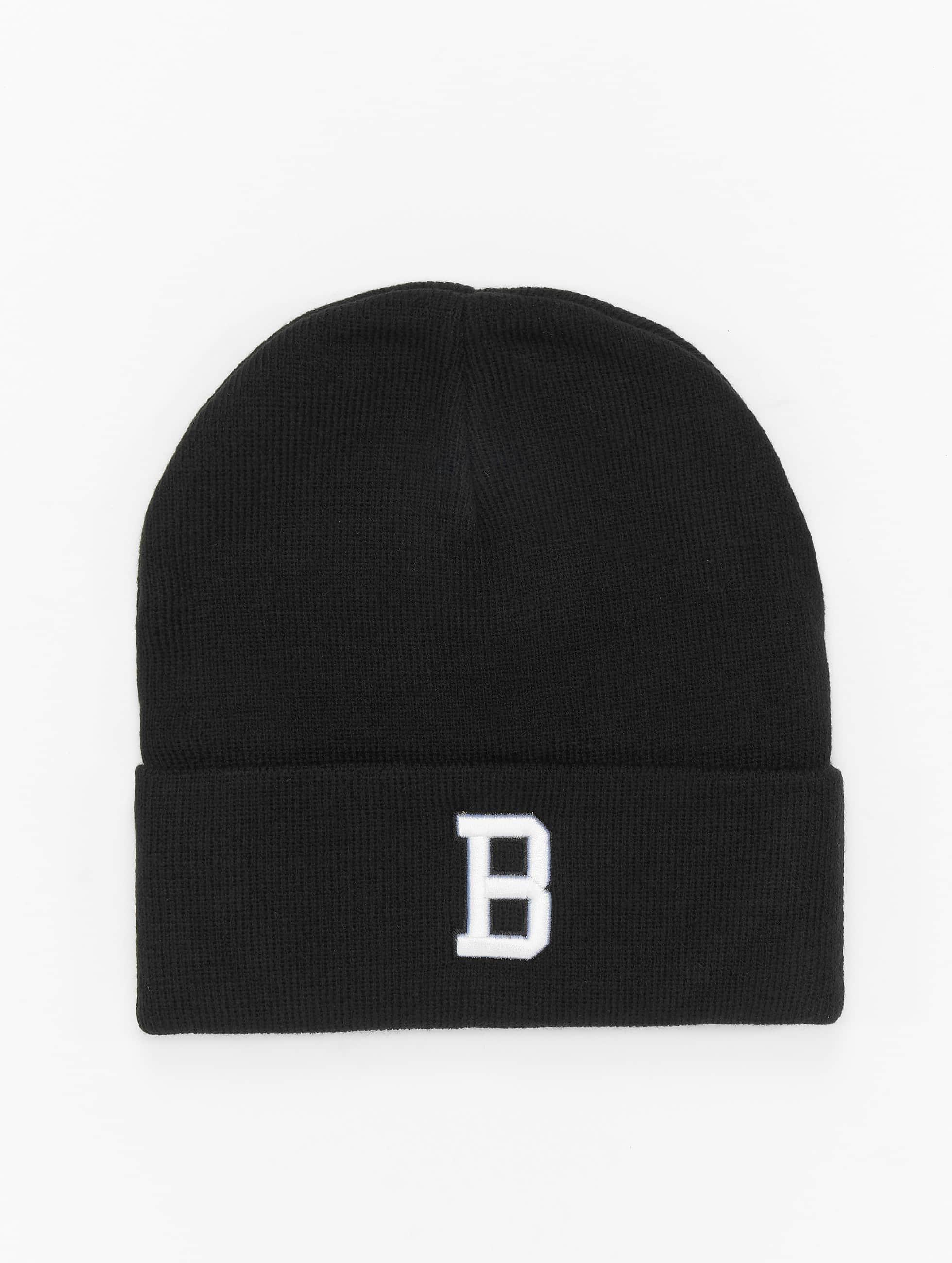 MSTRDS Beanie B Letter zwart
