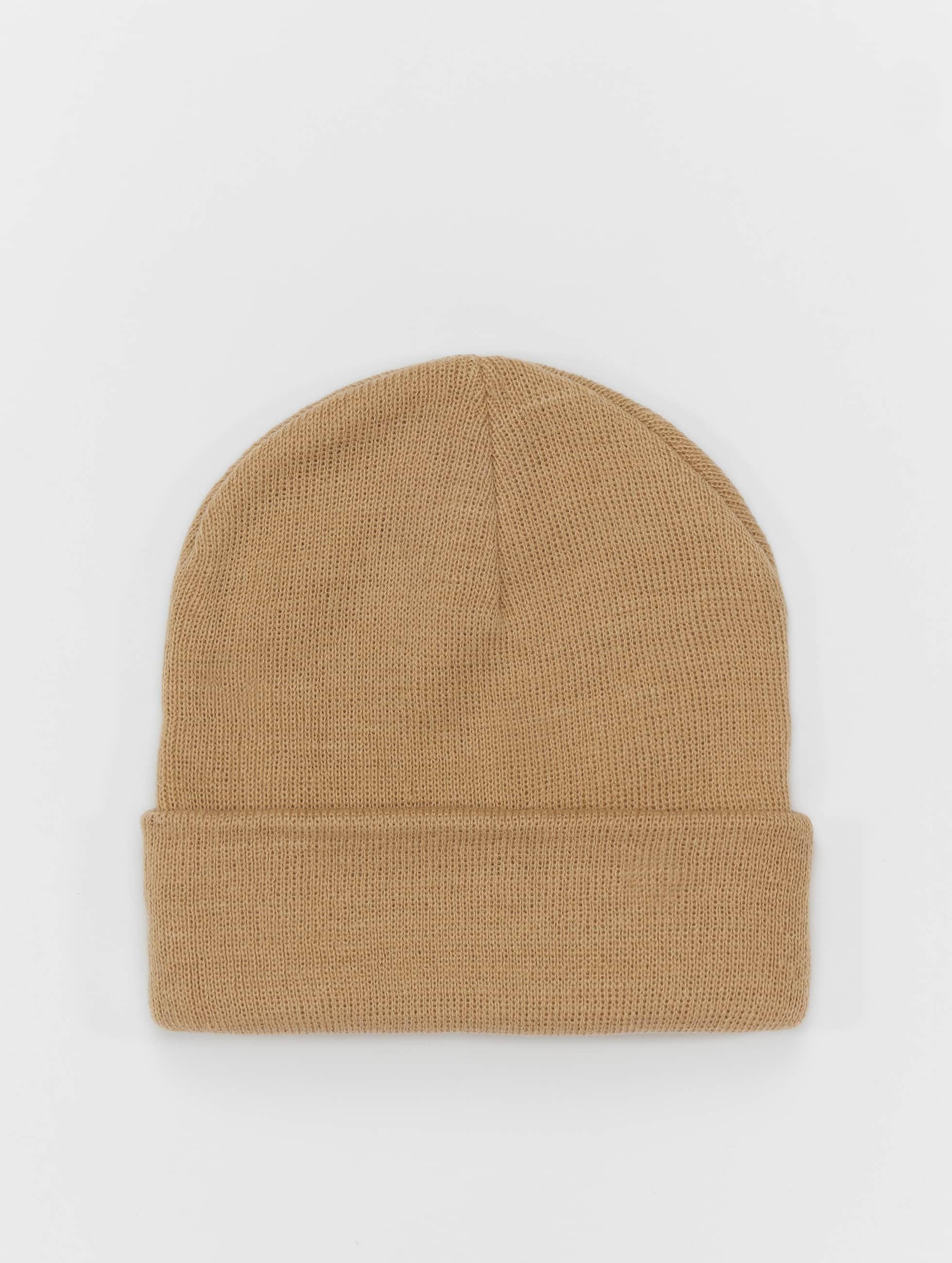 MSTRDS Bonnet Pastel Basic Flap brun