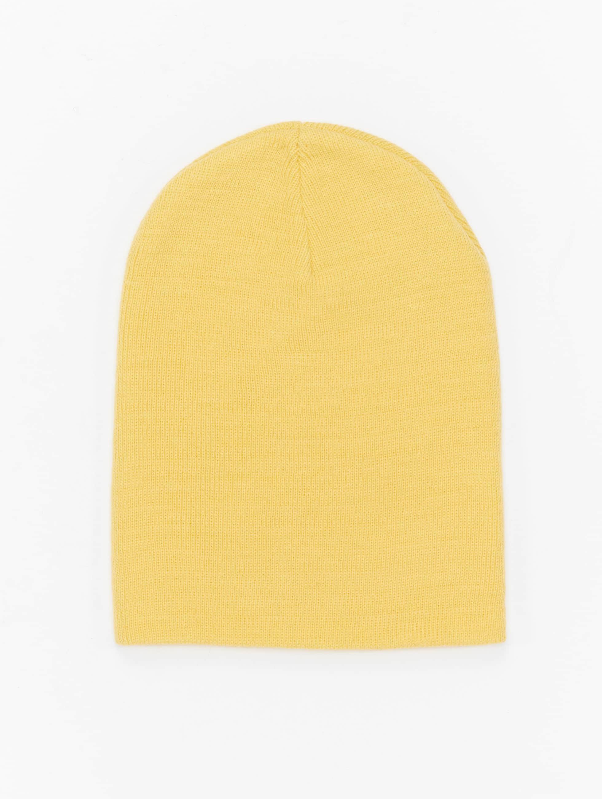 MSTRDS Bonnet Pastel Basic Flap jaune