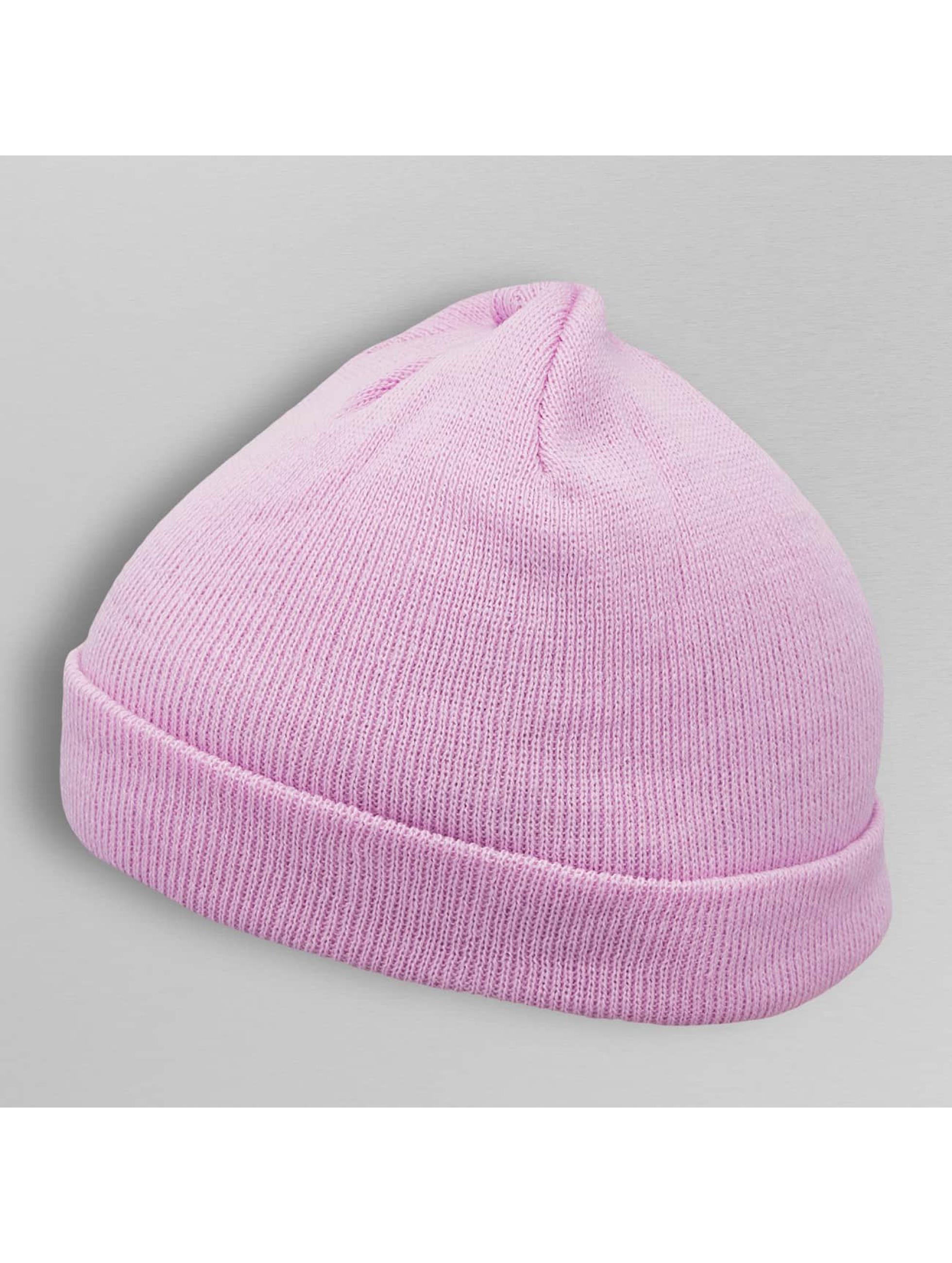 MSTRDS Bonnet Short Pastel Cuff Knit pourpre