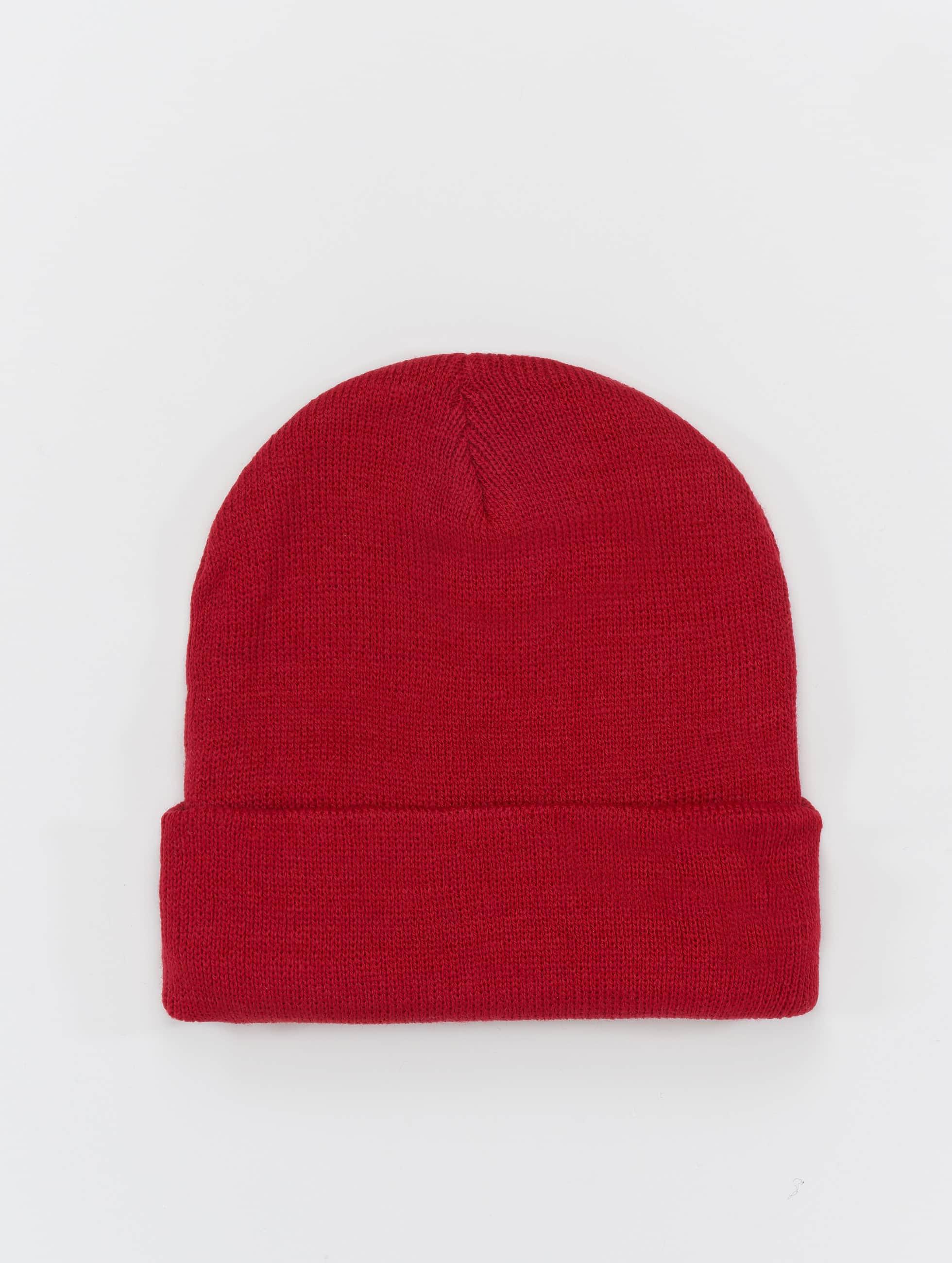 MSTRDS Bonnet Basic Flap rouge