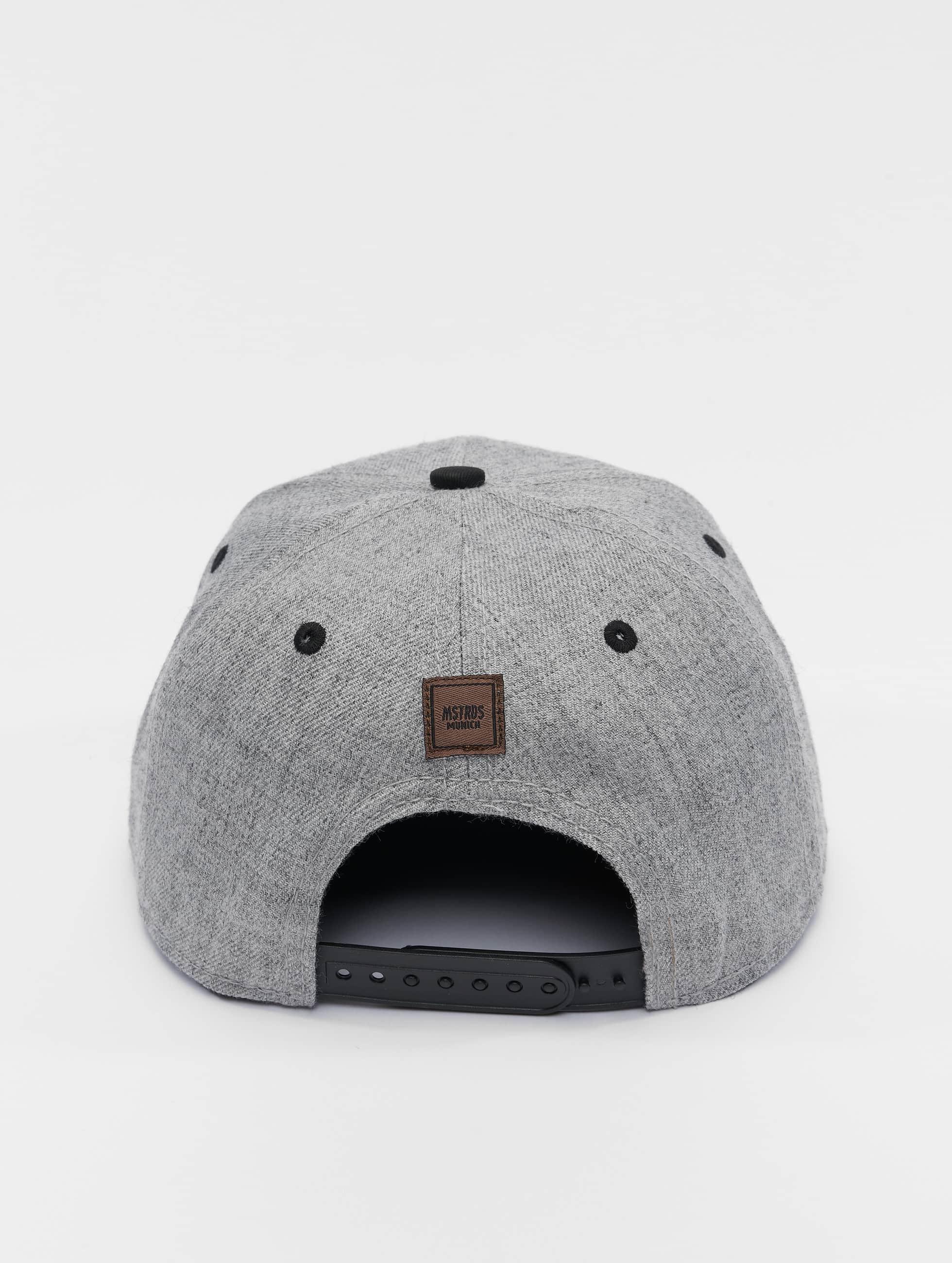 MSTRDS Casquette Snapback & Strapback A Letter gris