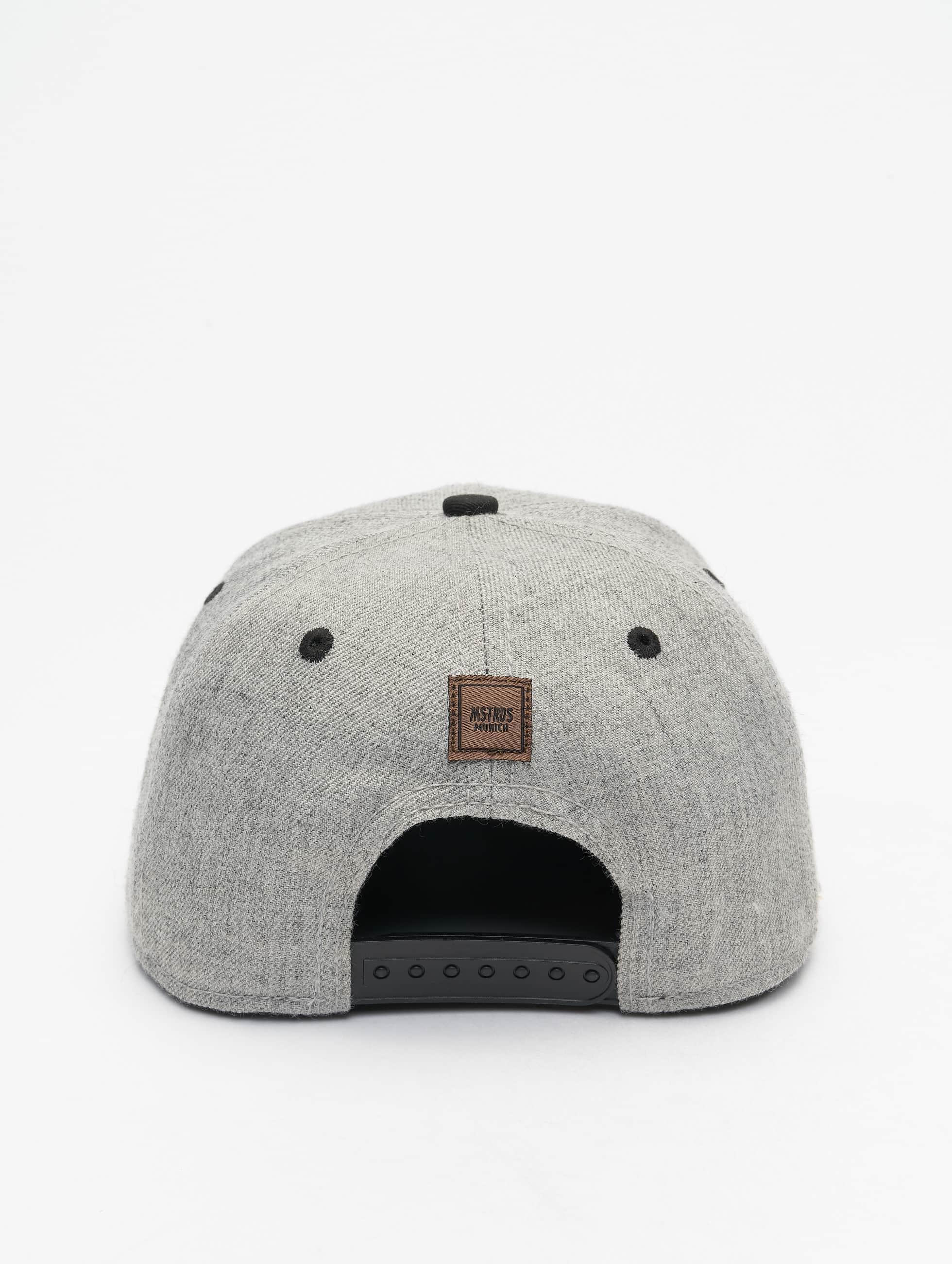 MSTRDS Casquette Snapback & Strapback E Letter gris