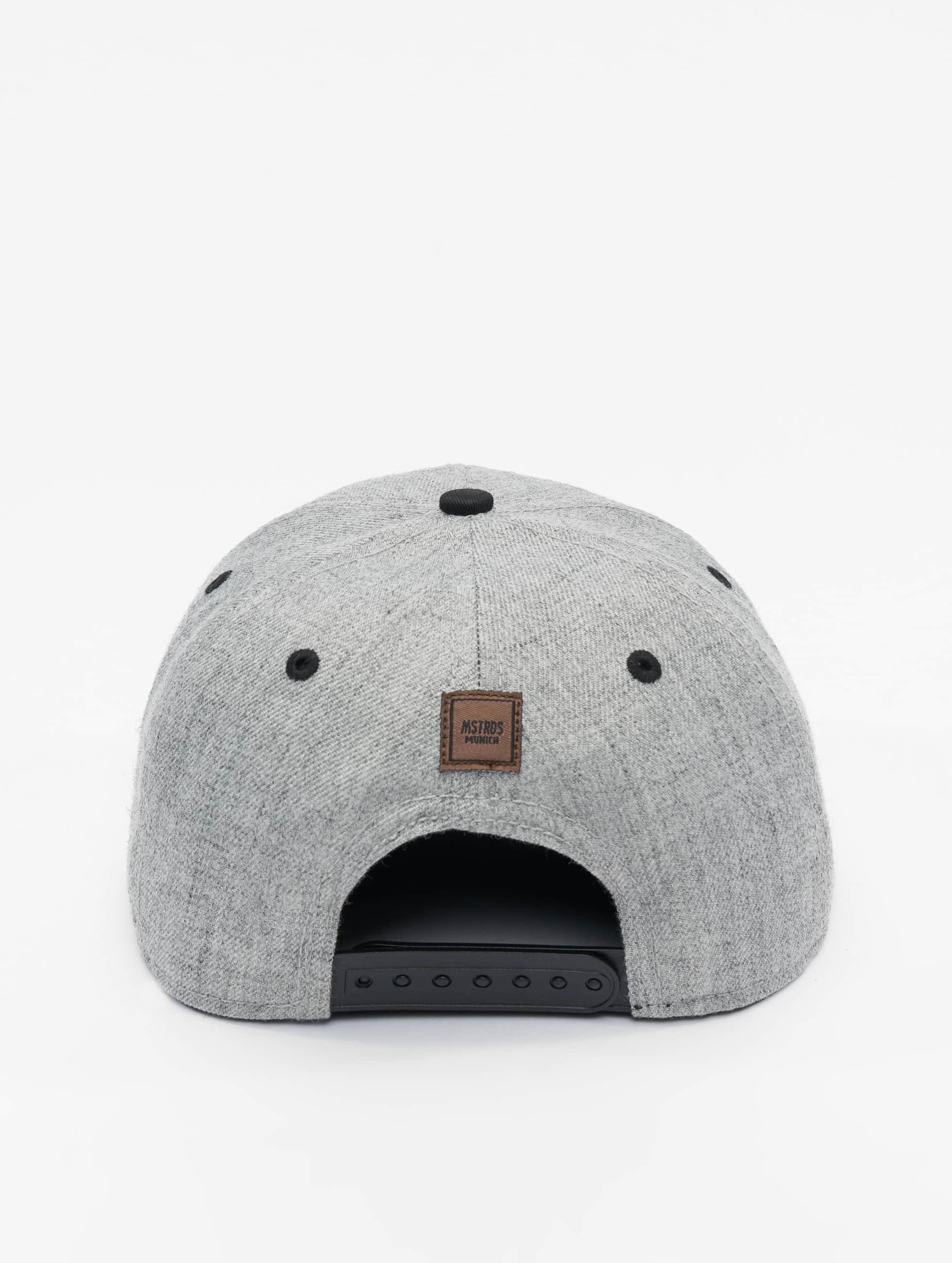 MSTRDS Casquette Snapback & Strapback F Letter gris