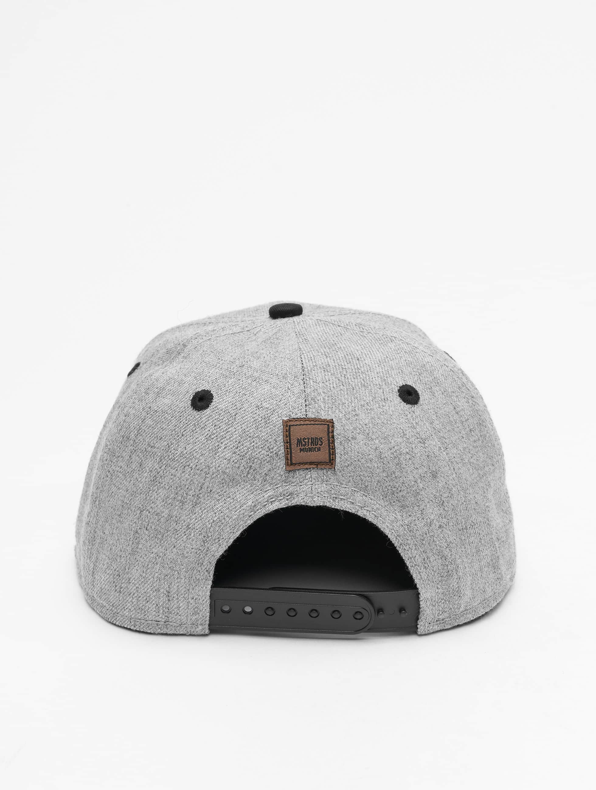 MSTRDS Casquette Snapback & Strapback G Letter gris