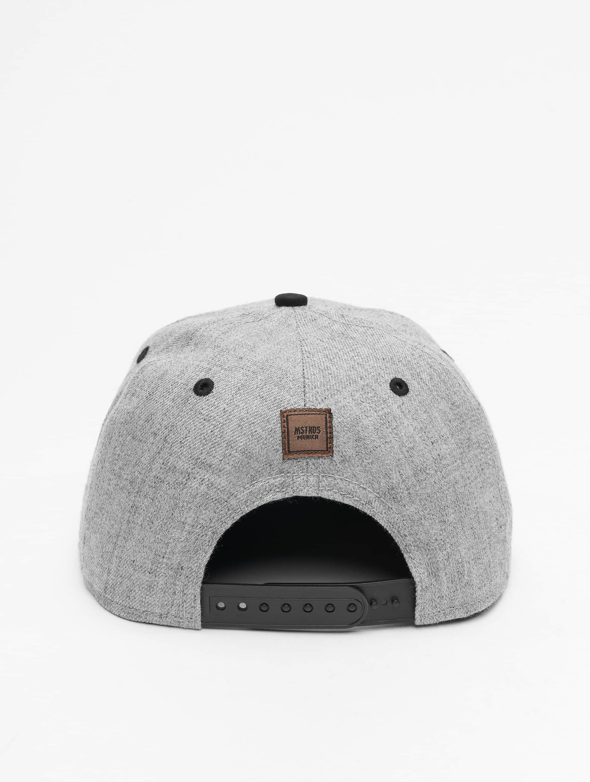 MSTRDS Casquette Snapback & Strapback W Letter gris
