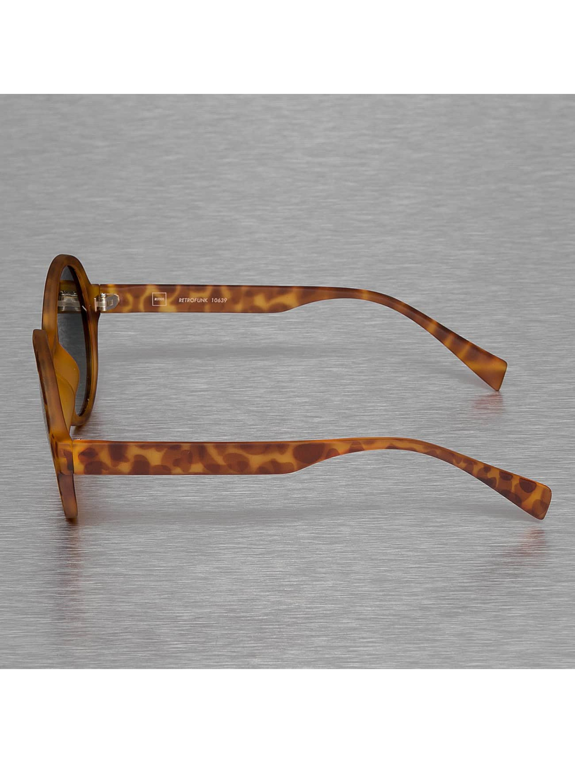 MSTRDS Lunettes de soleil Retro Funk Polarized Mirror brun