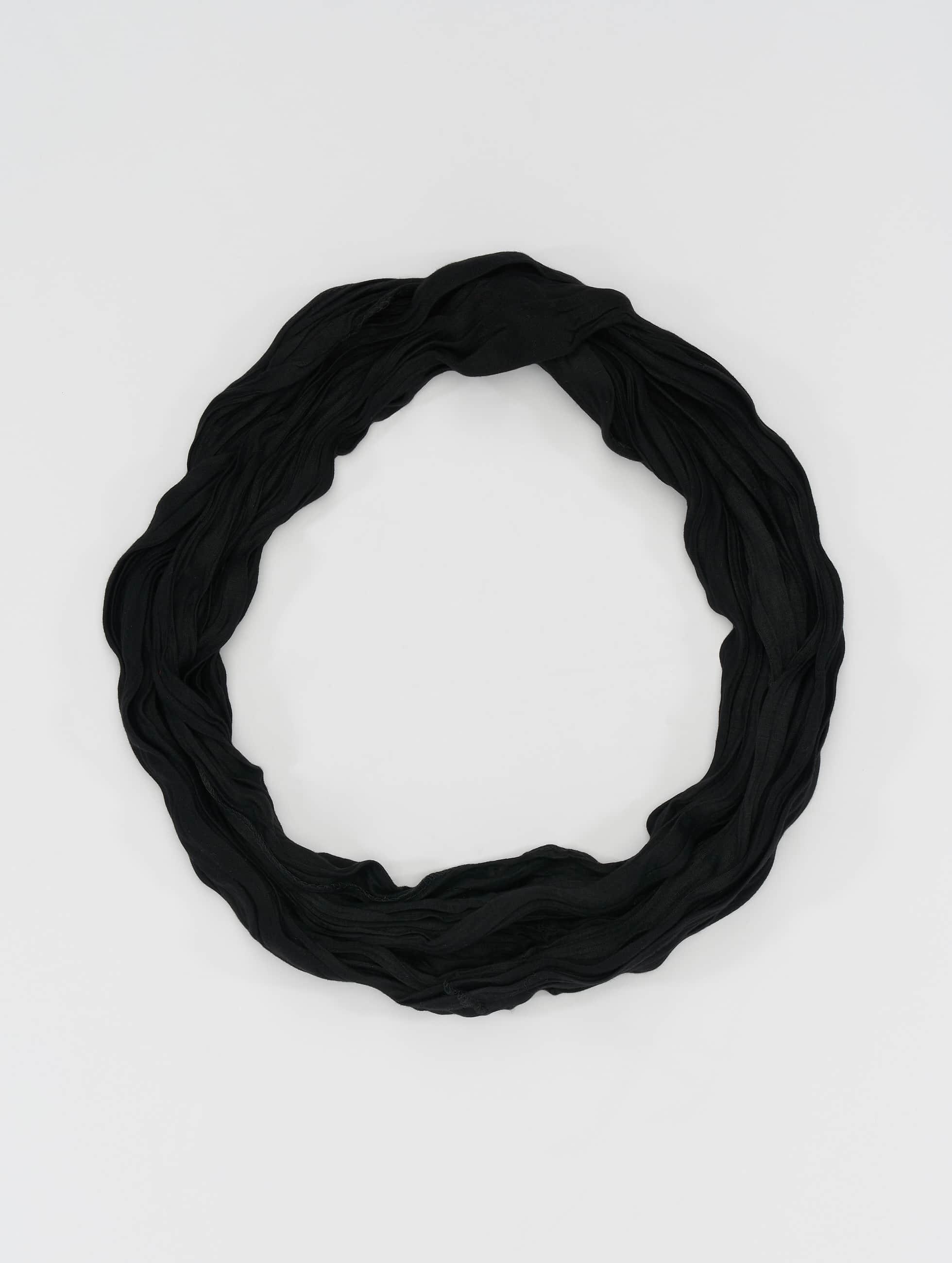 MSTRDS Schal Wrinkle Loop schwarz