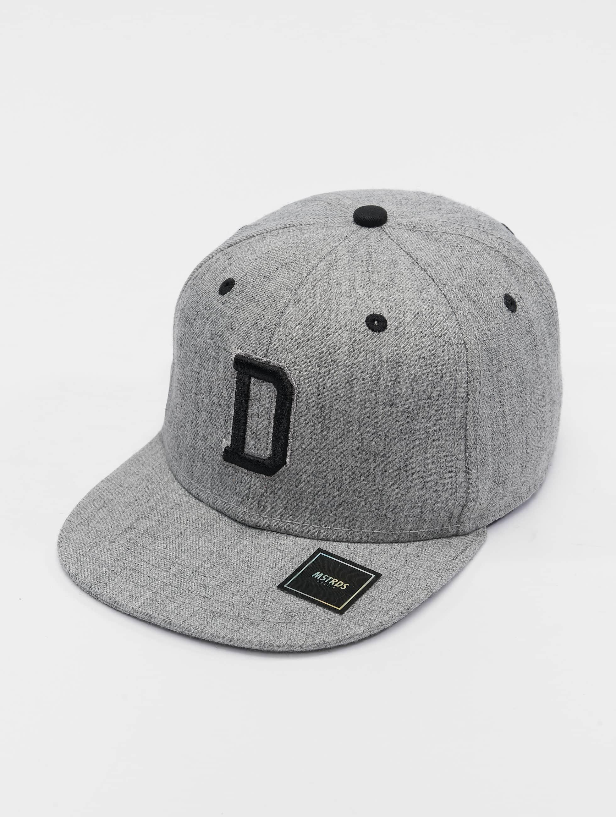 MSTRDS Snapback Cap D Letter gray