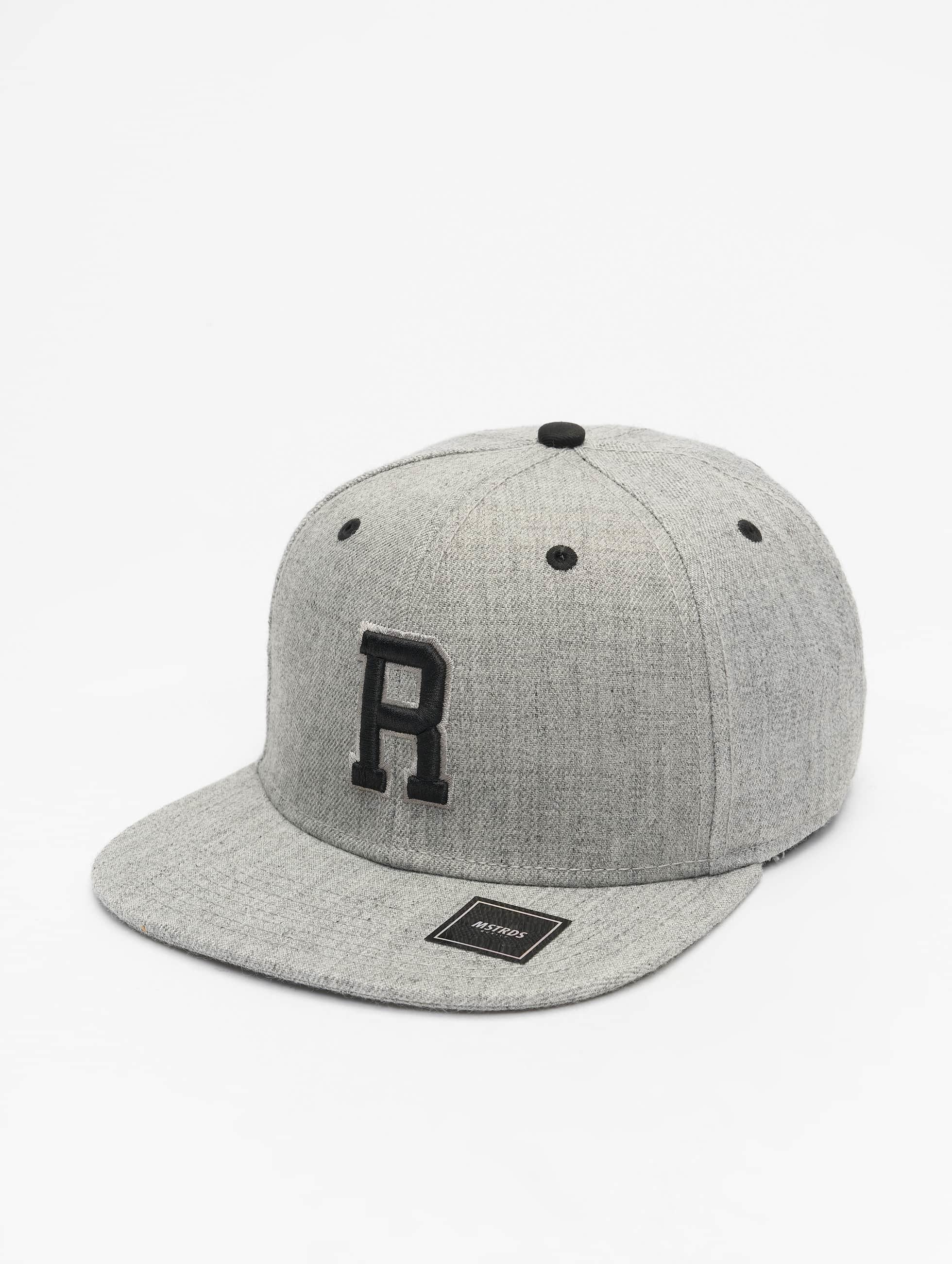 MSTRDS Snapback Cap R Letter gray