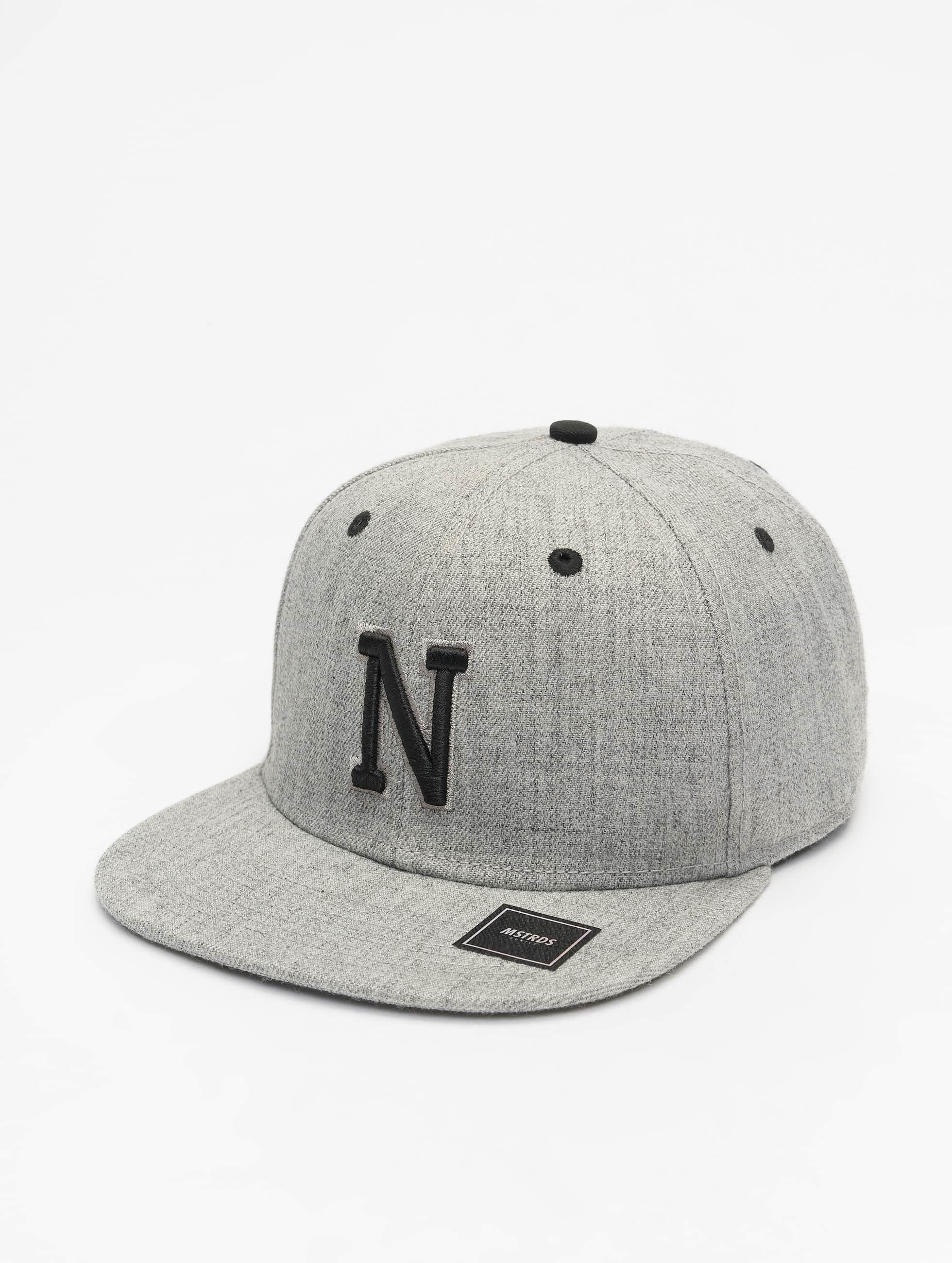 MSTRDS Snapback Cap N Letter grey