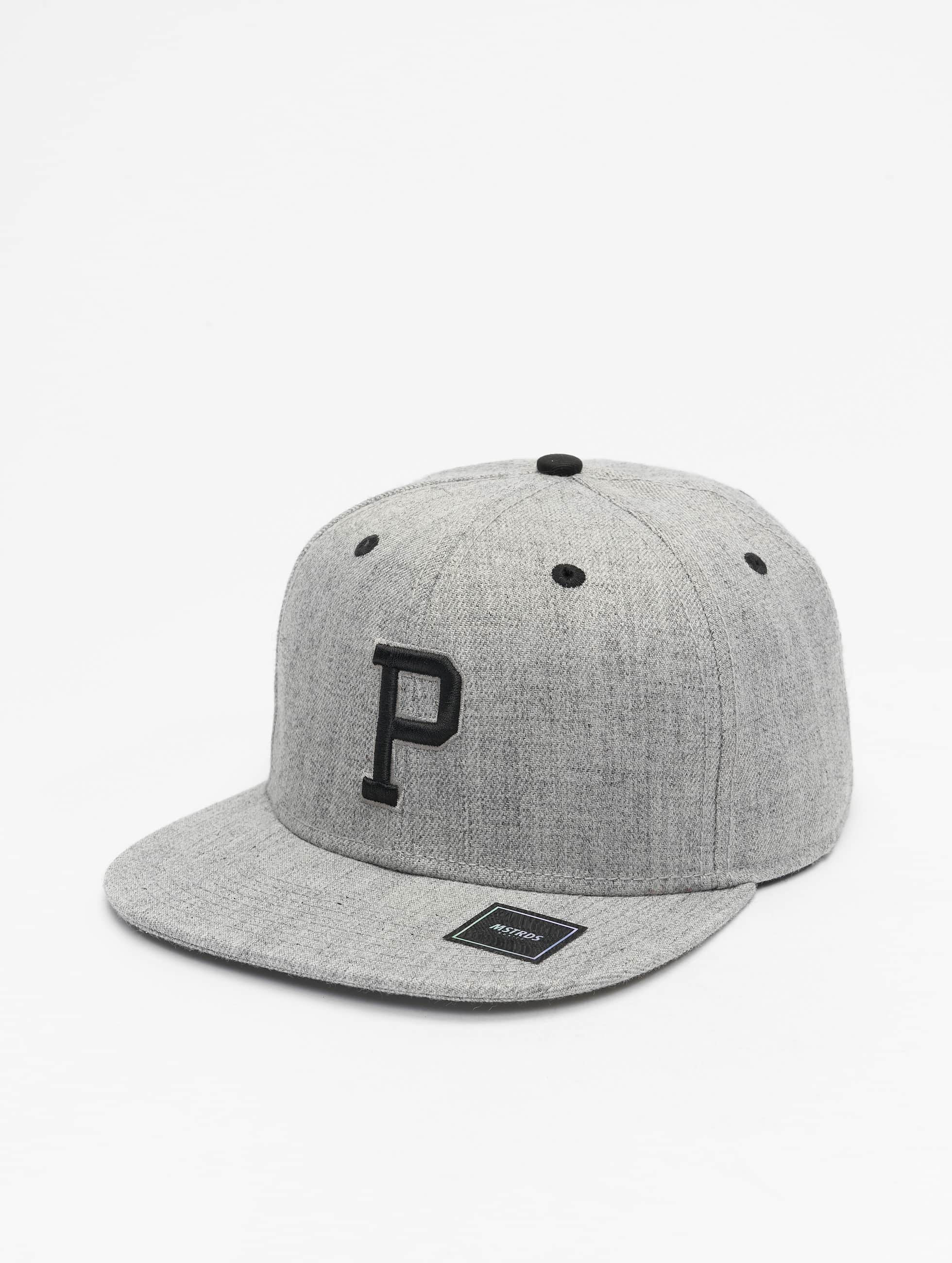 MSTRDS Snapback Cap P Letter grey