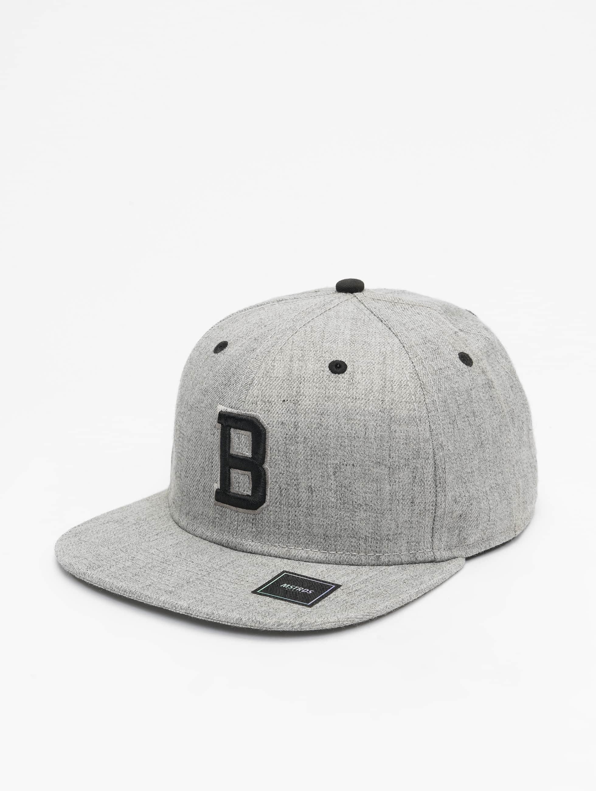 MSTRDS snapback cap B Letter grijs