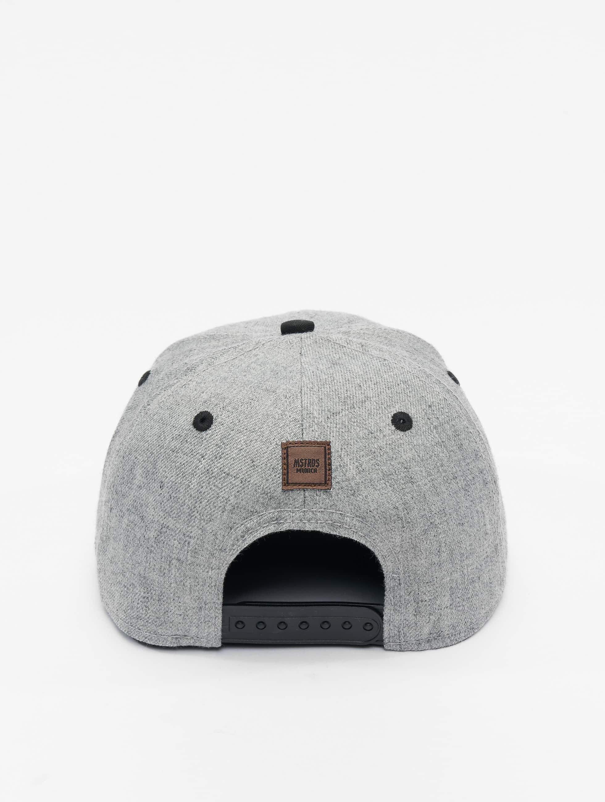 MSTRDS snapback cap I Letter grijs