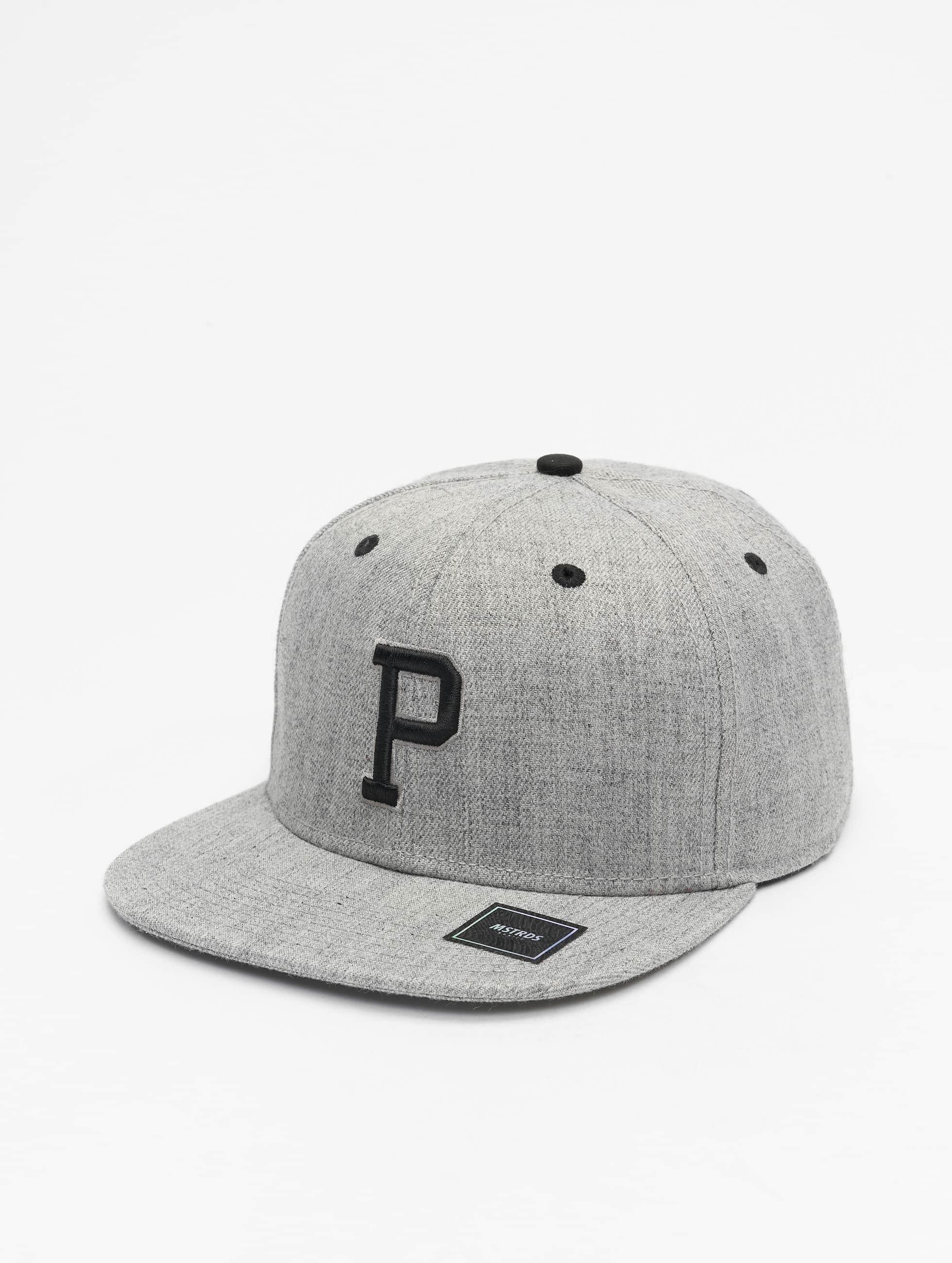 MSTRDS snapback cap P Letter grijs