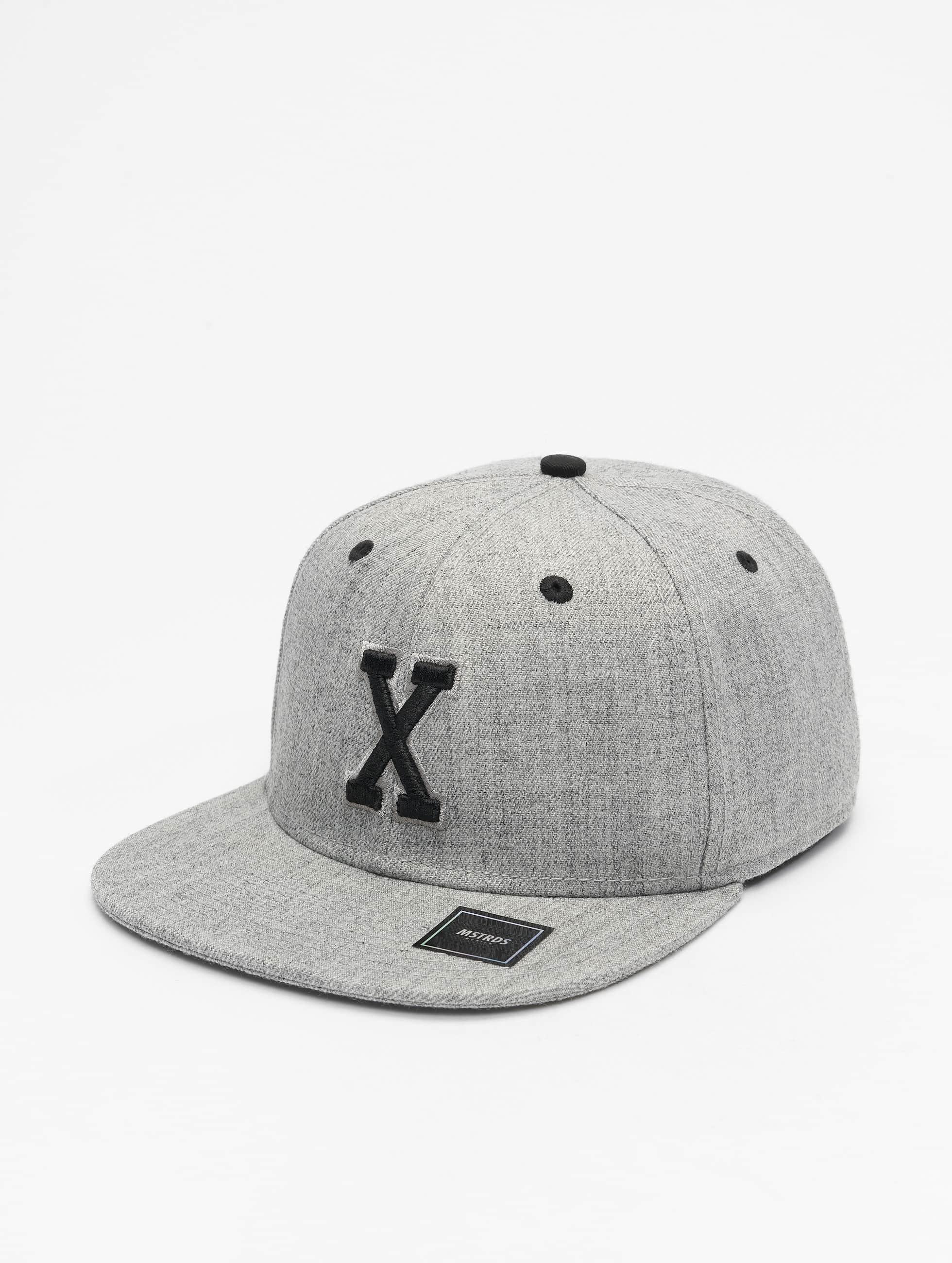 MSTRDS snapback cap X Letter grijs