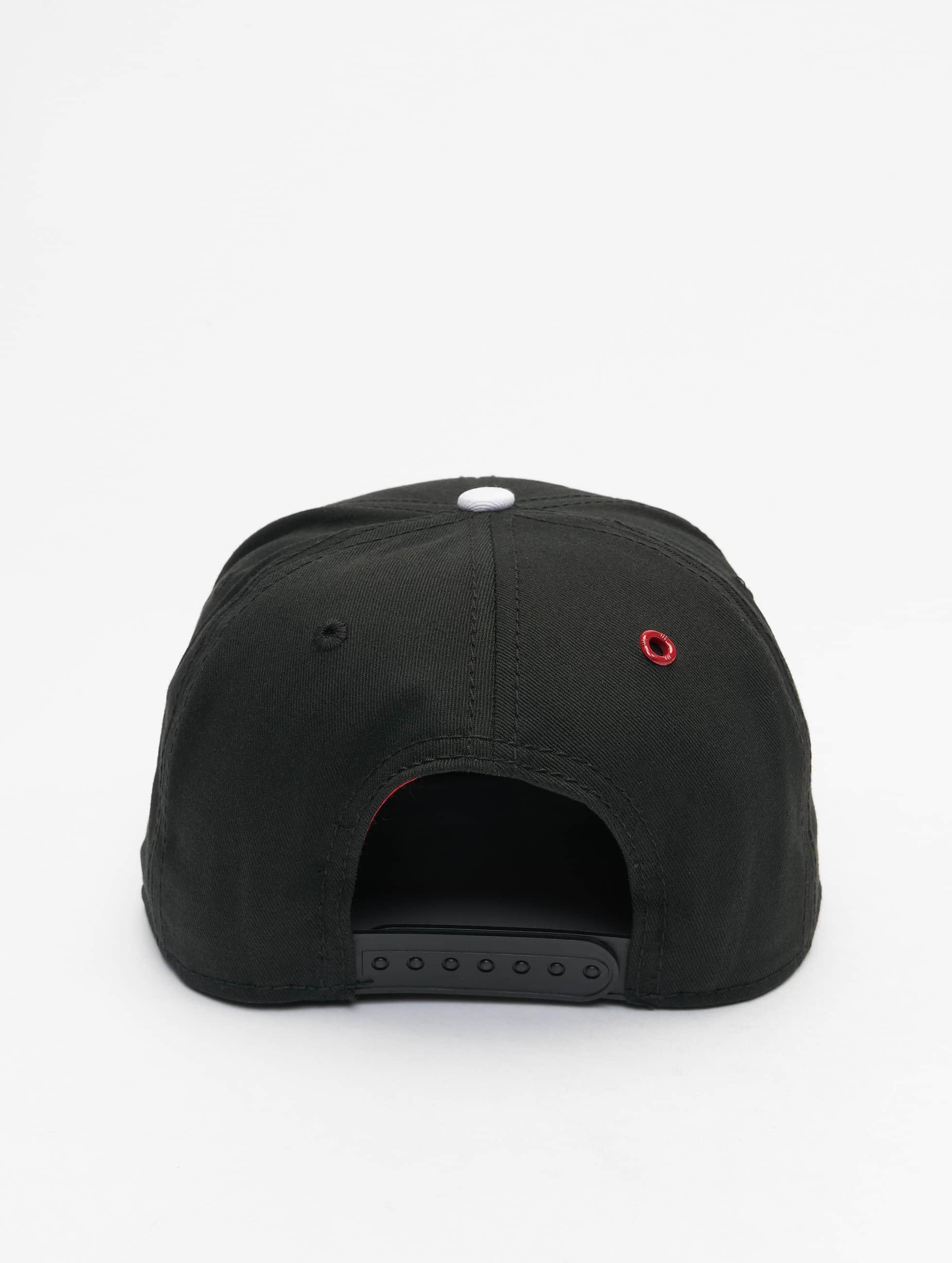 MSTRDS Snapback Cap H Letter schwarz