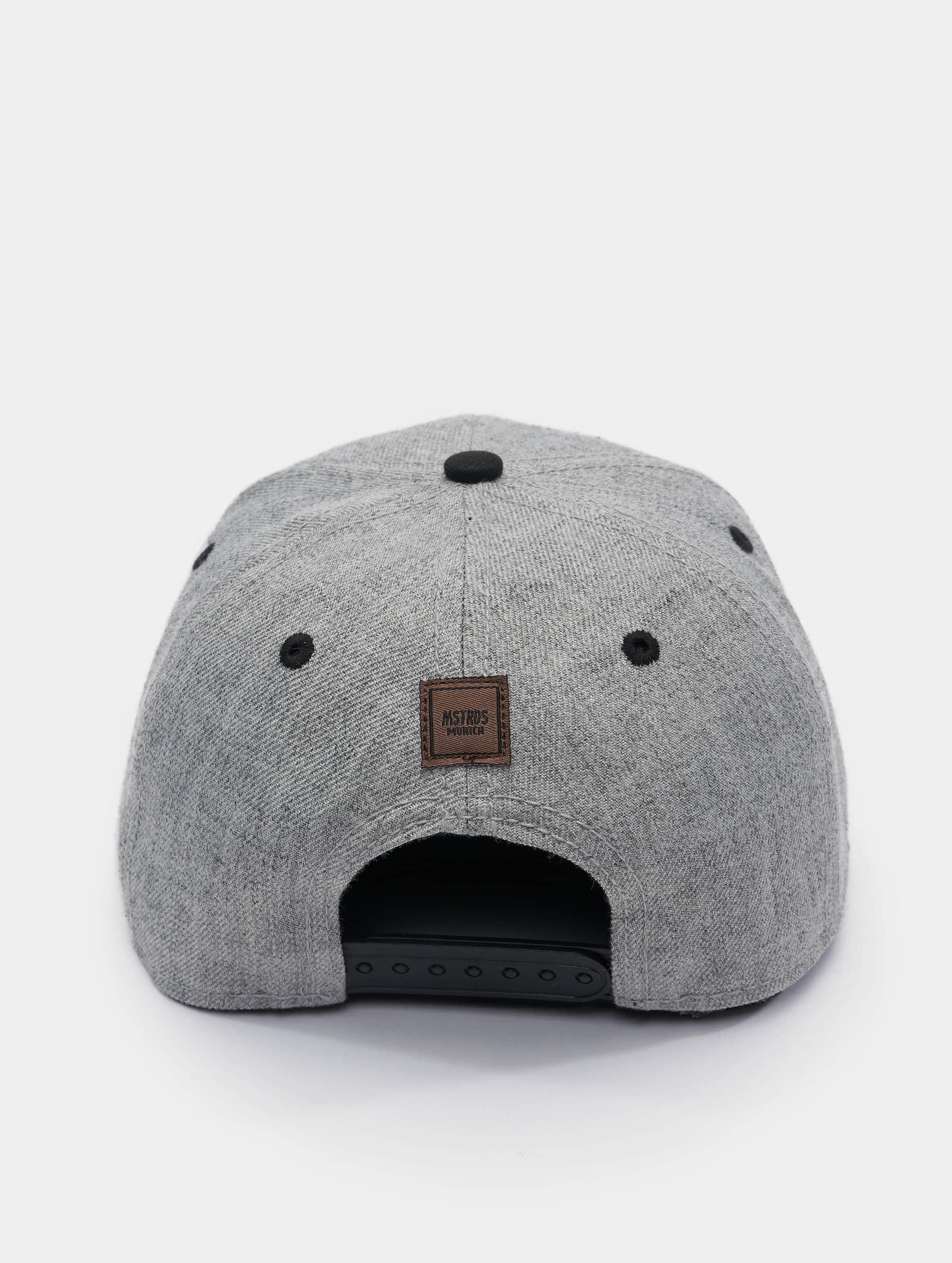 MSTRDS Snapback Caps C Letter grå