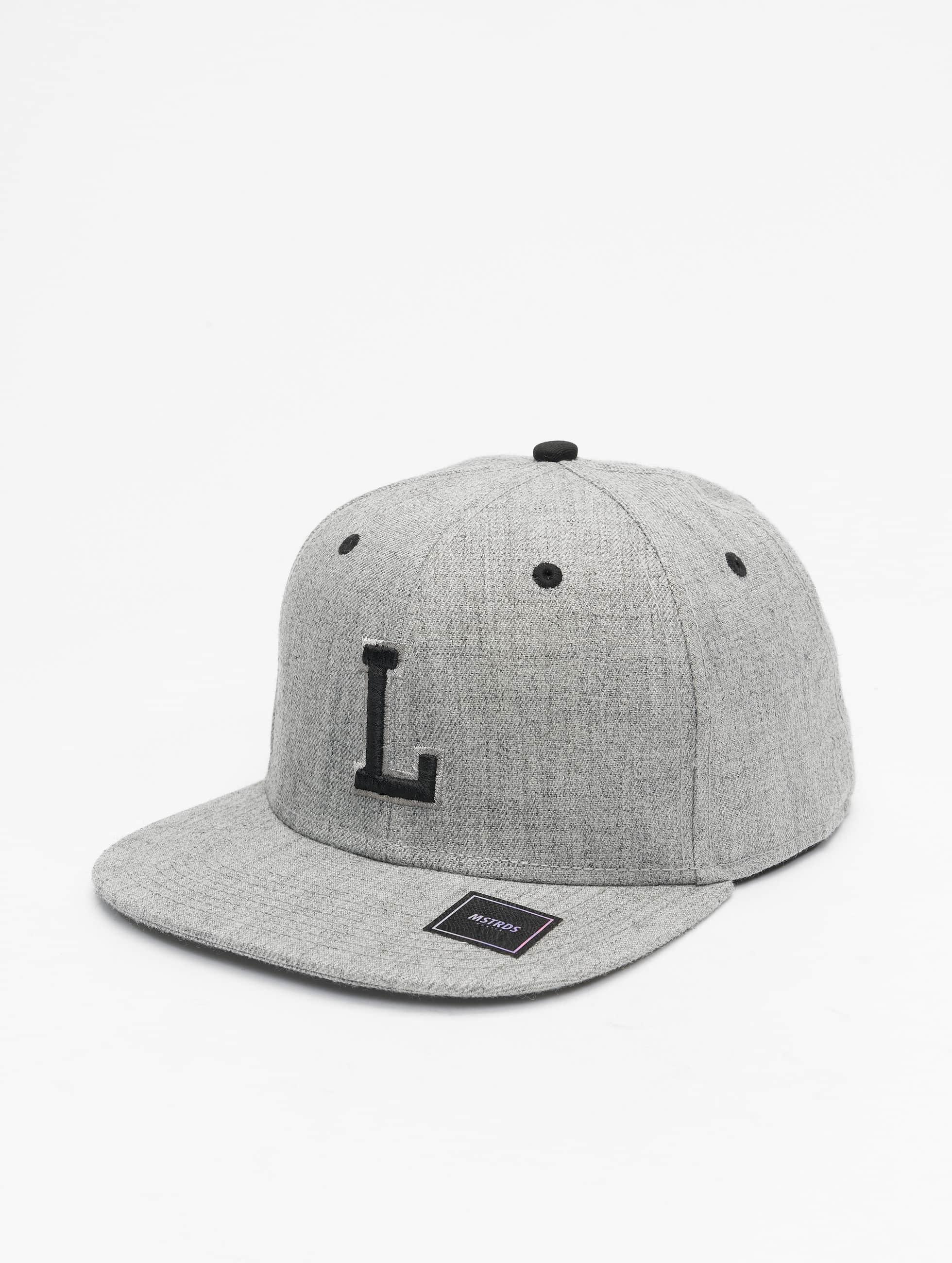 MSTRDS Snapback Caps L Letter grå