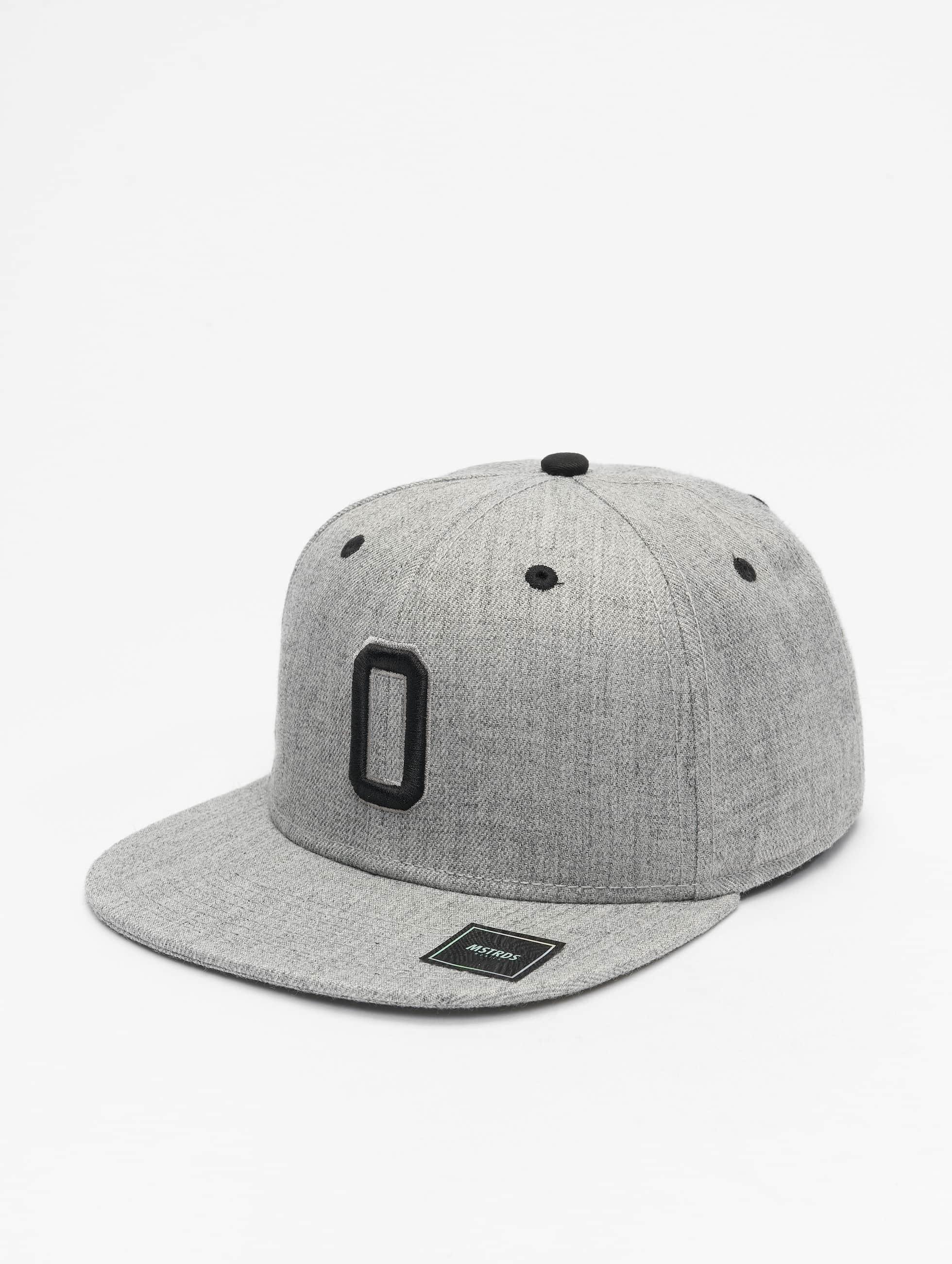 MSTRDS Snapback Caps O Letter grå