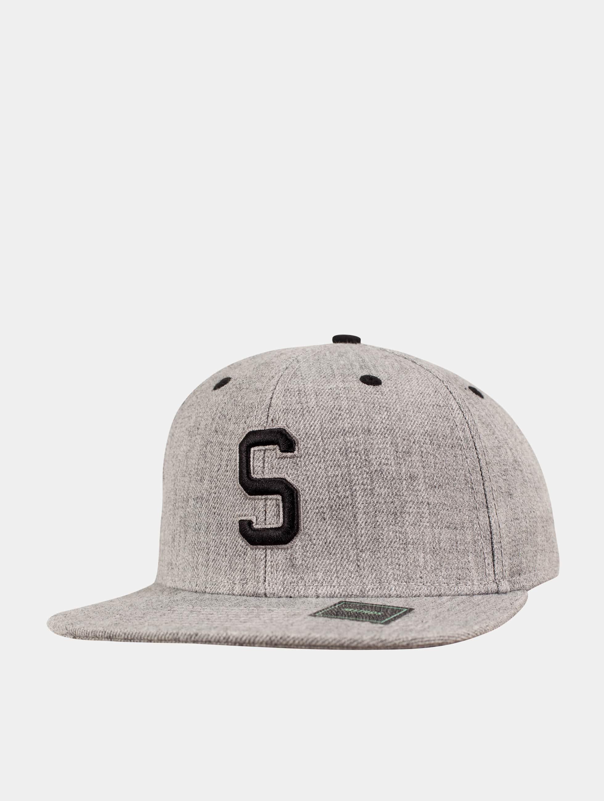 MSTRDS Snapback Caps S Letter grå