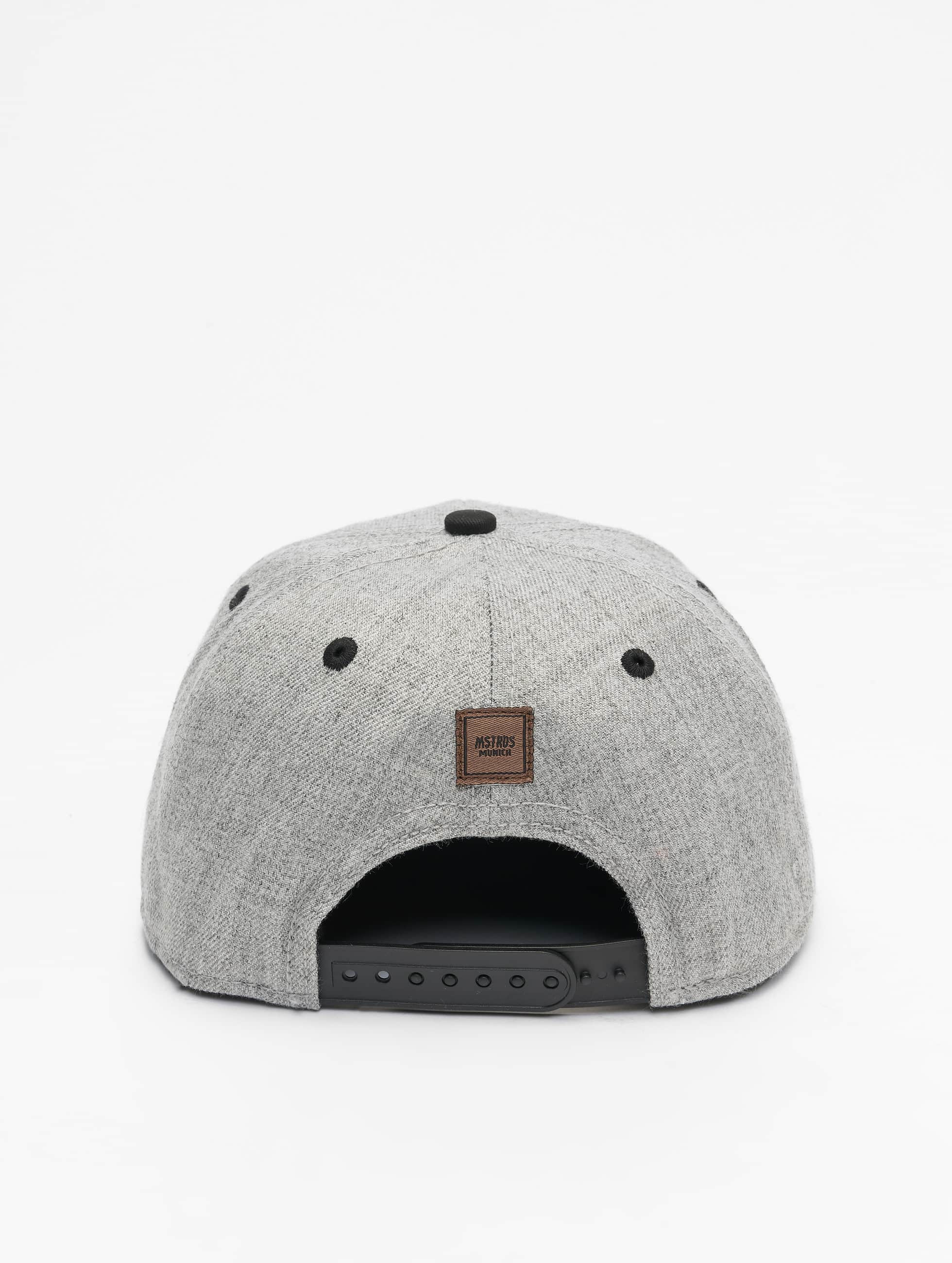 MSTRDS Snapback Caps U Letter grå