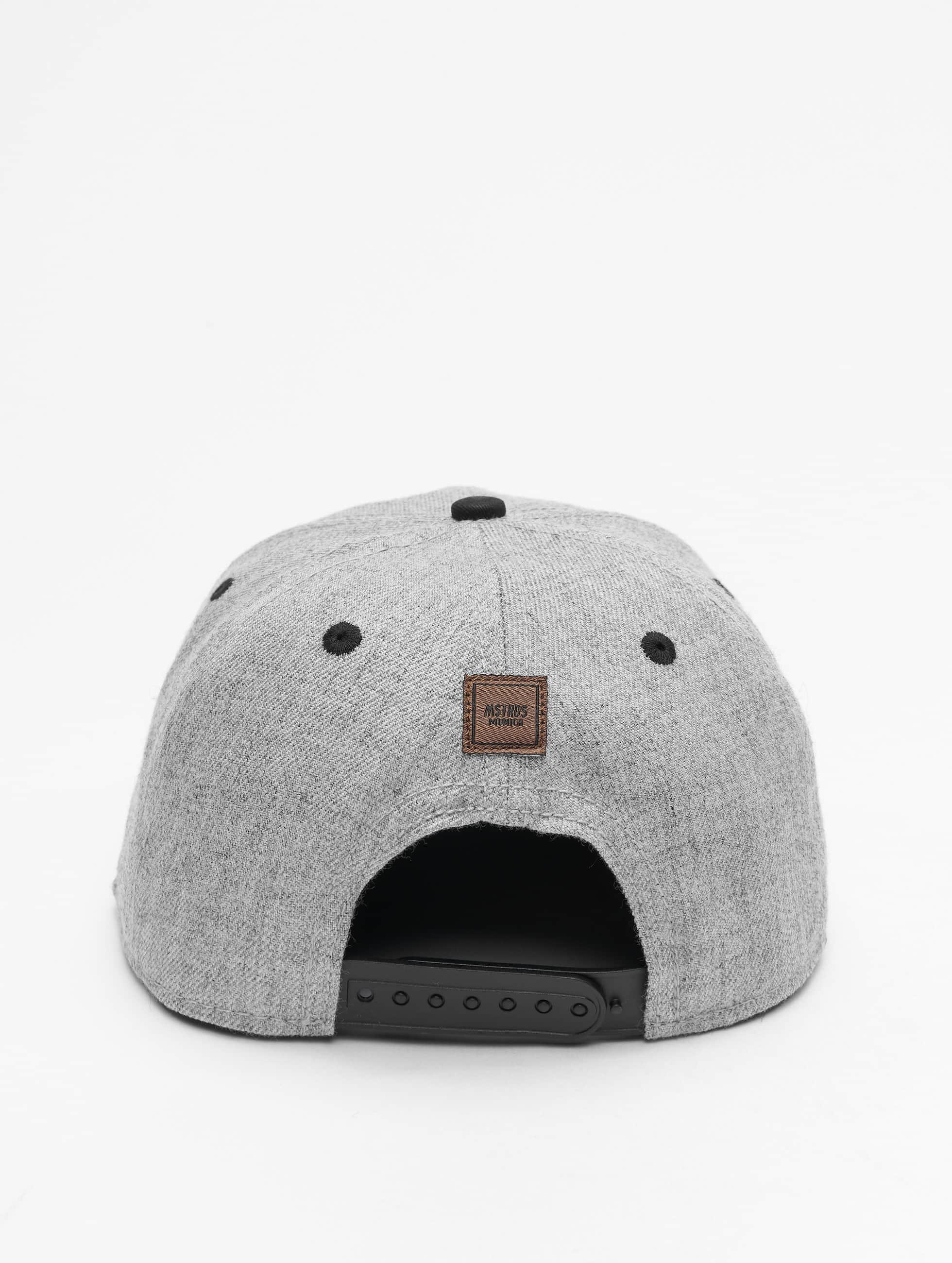 MSTRDS Snapback Caps V Letter grå