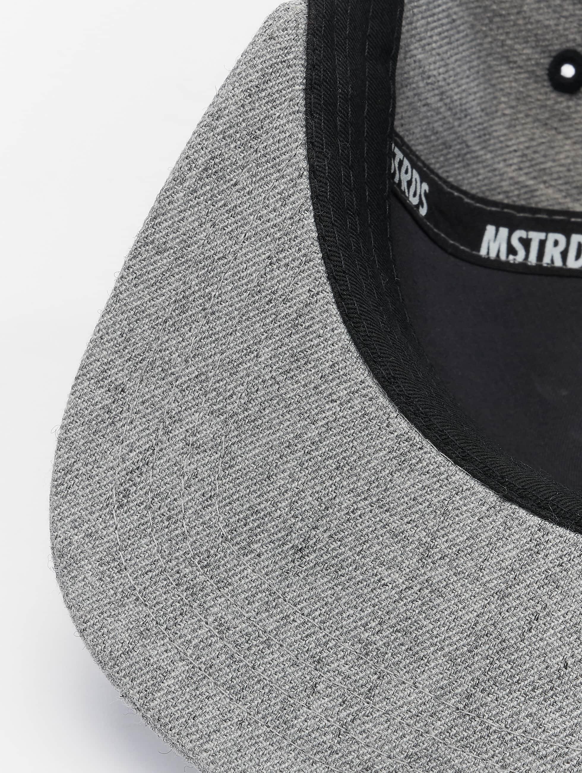 MSTRDS Snapback Caps D Letter harmaa