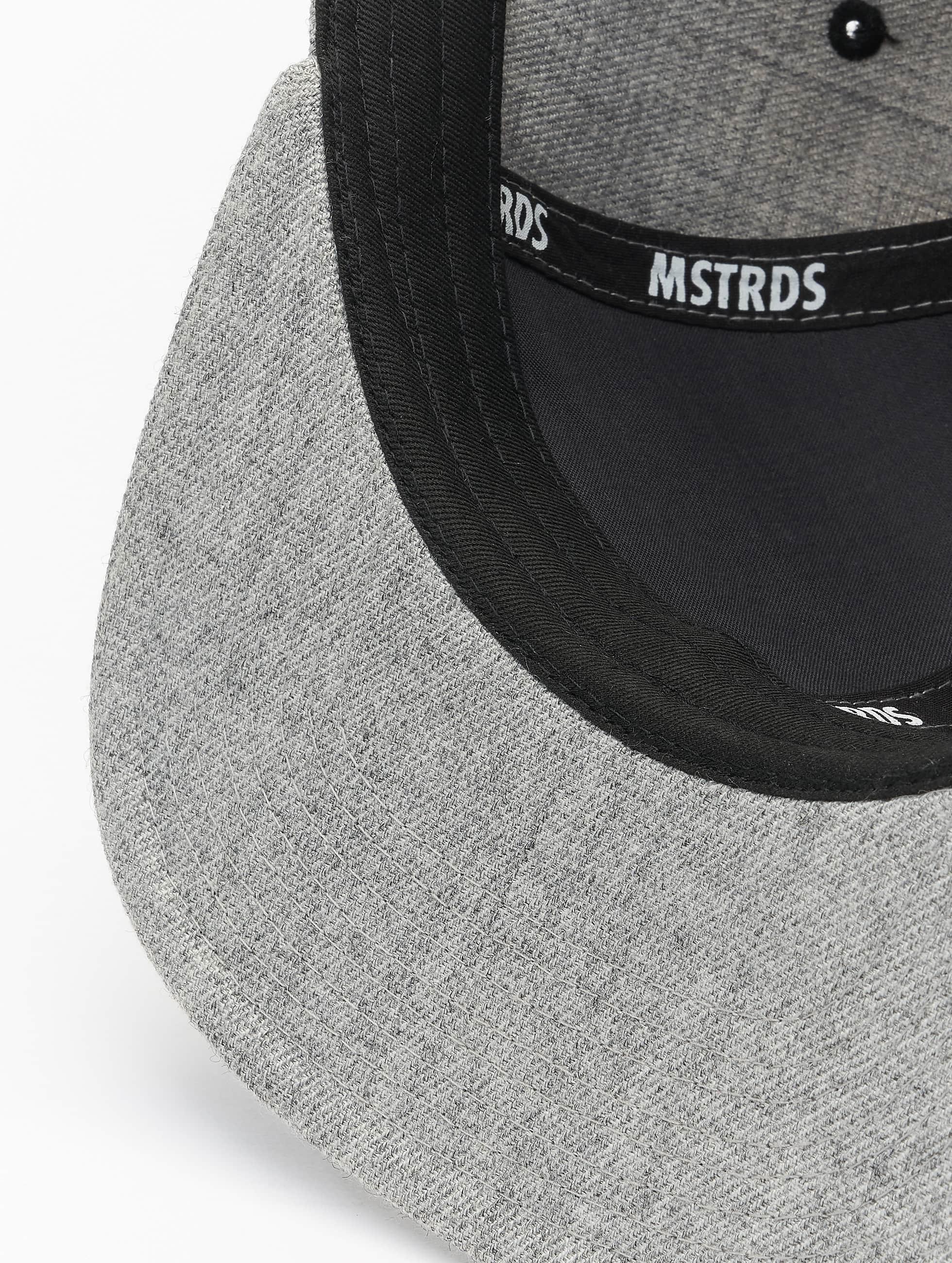 MSTRDS Snapback Caps L Letter harmaa