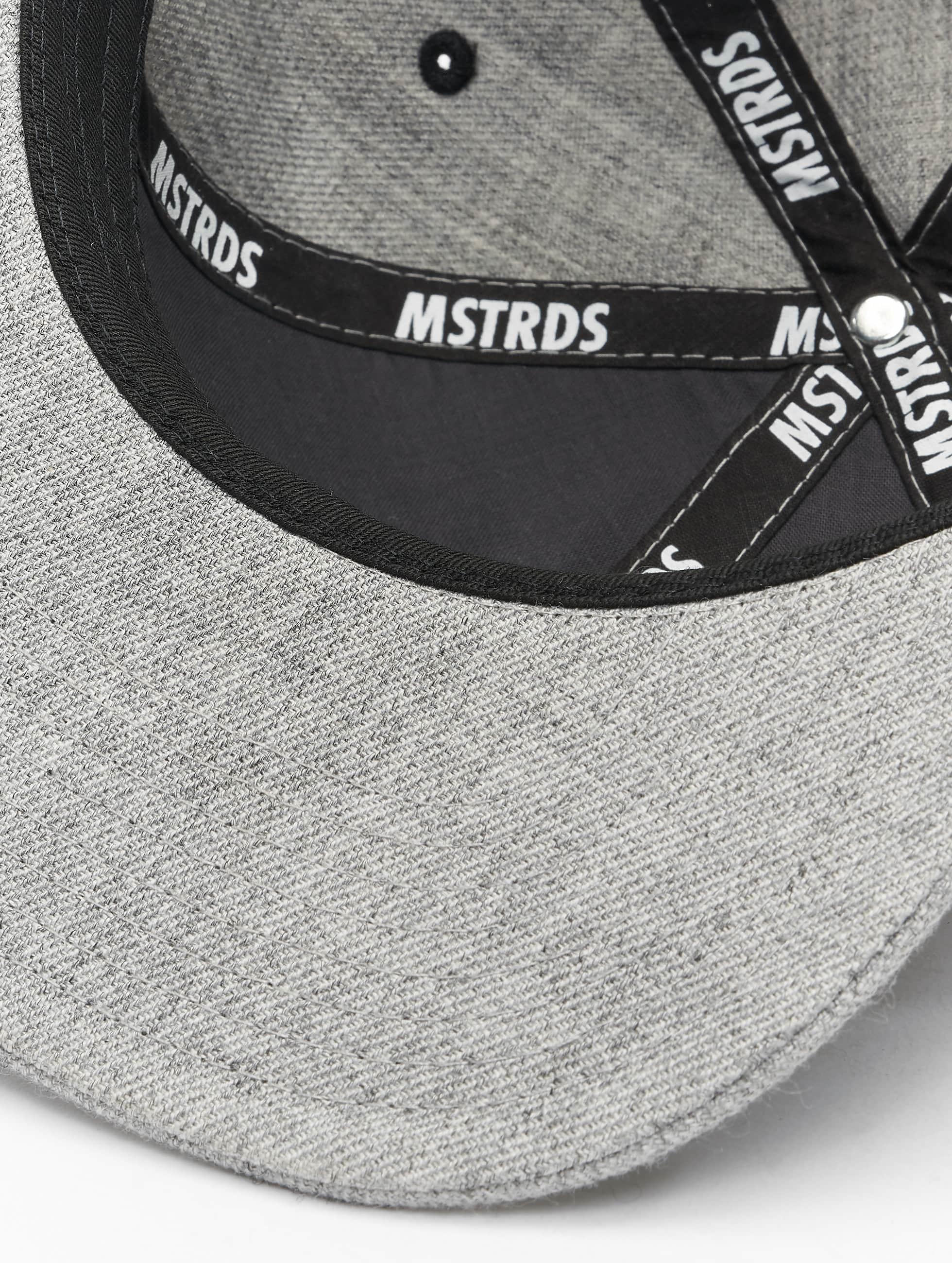 MSTRDS Snapback Caps P Letter harmaa