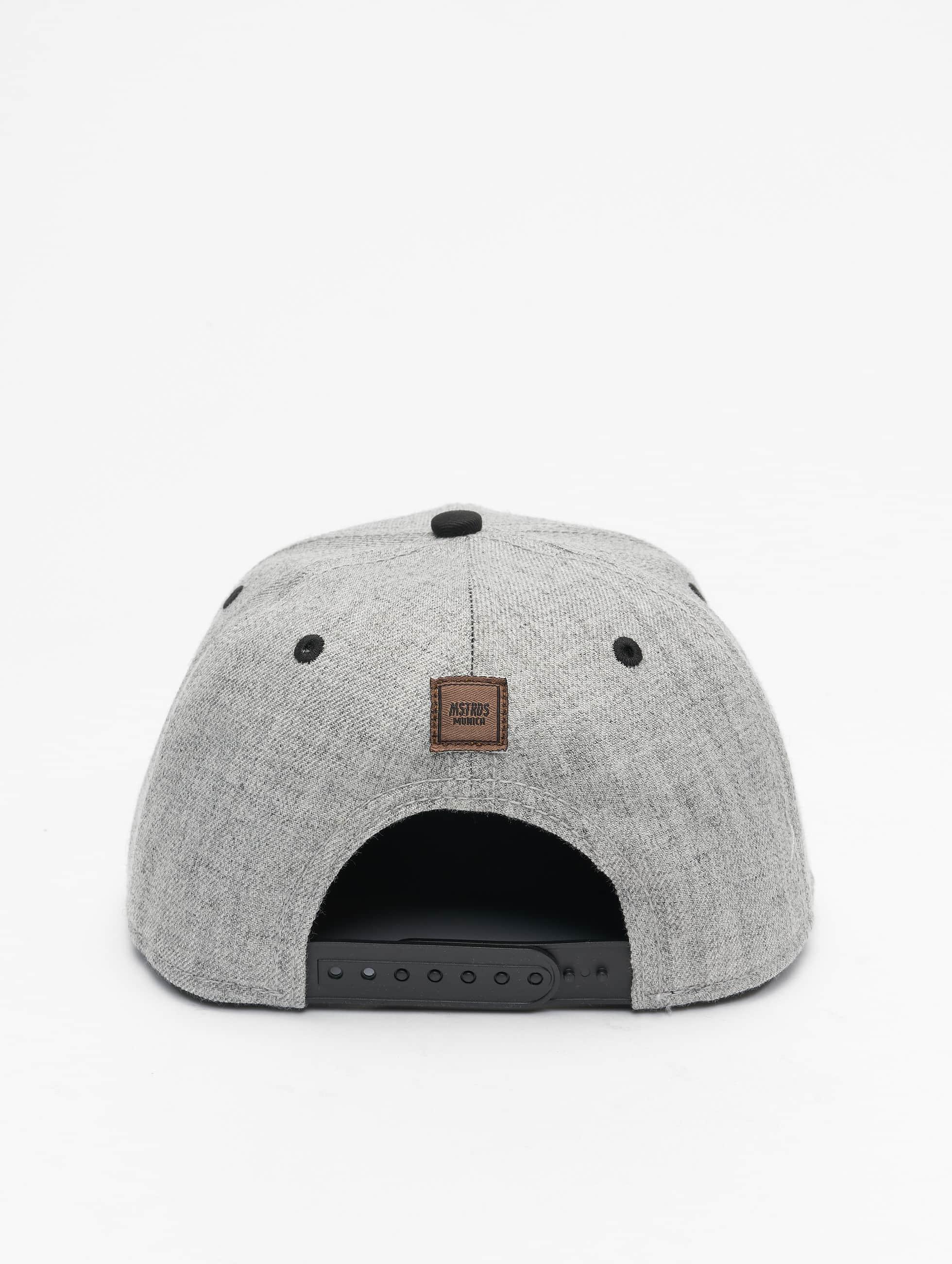 MSTRDS Snapback Caps T Letter harmaa
