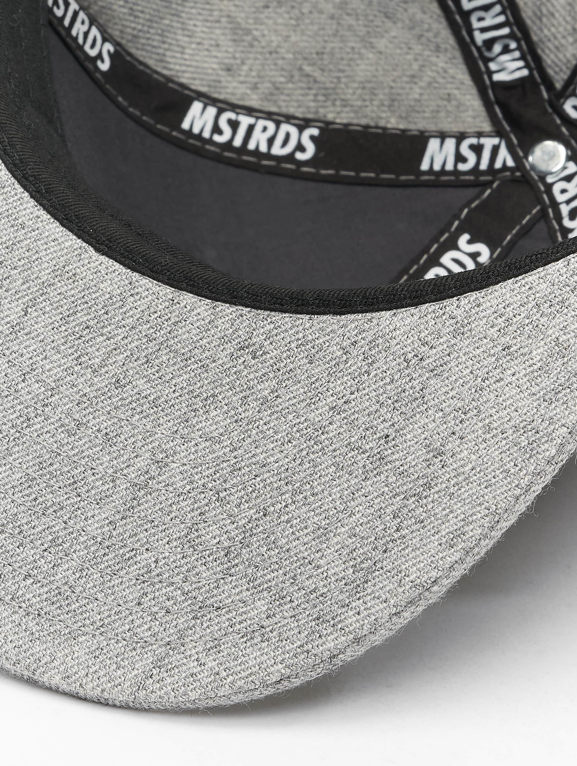 MSTRDS Snapback Caps X Letter harmaa