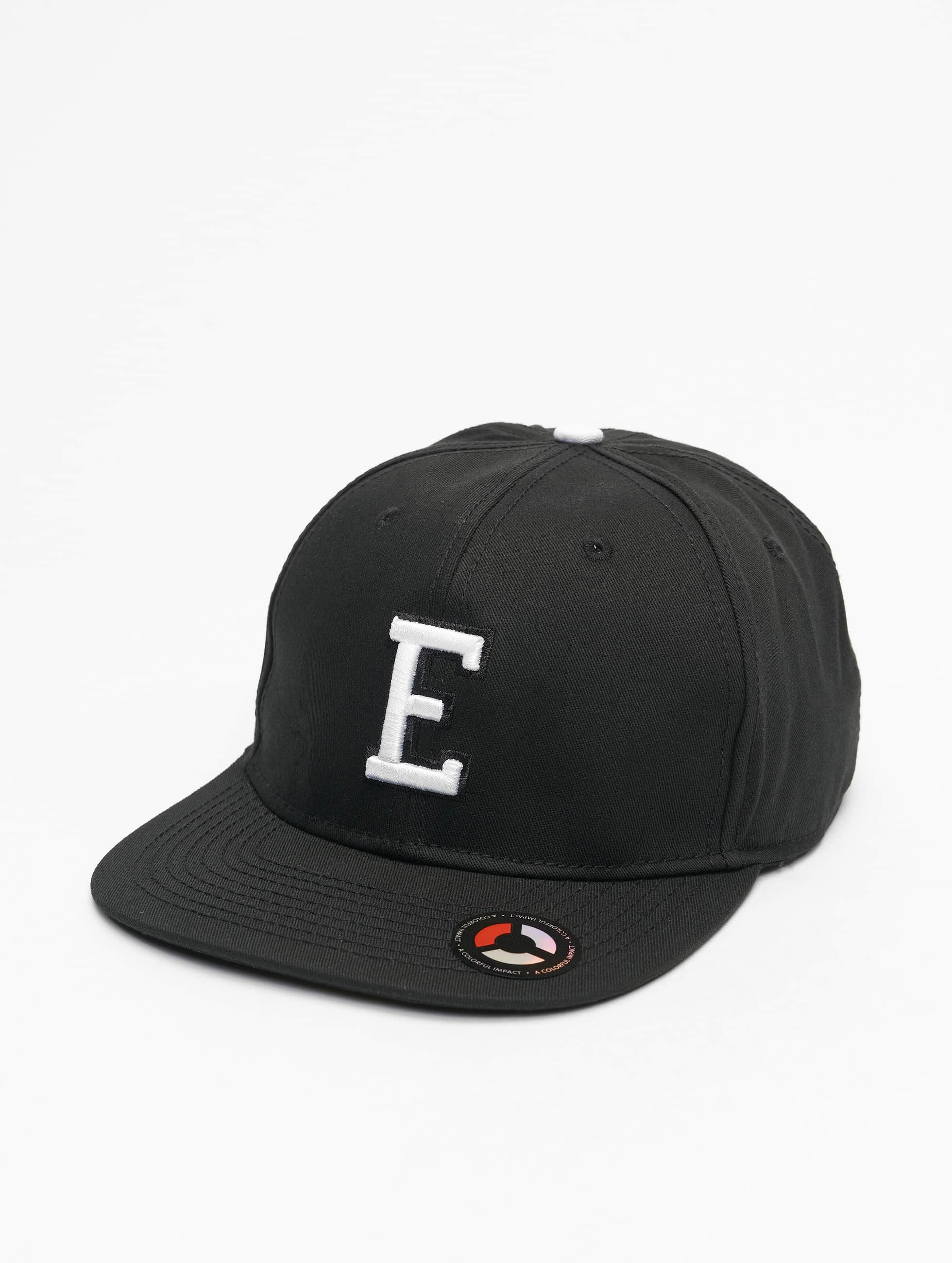 MSTRDS Snapback Caps E Letter musta