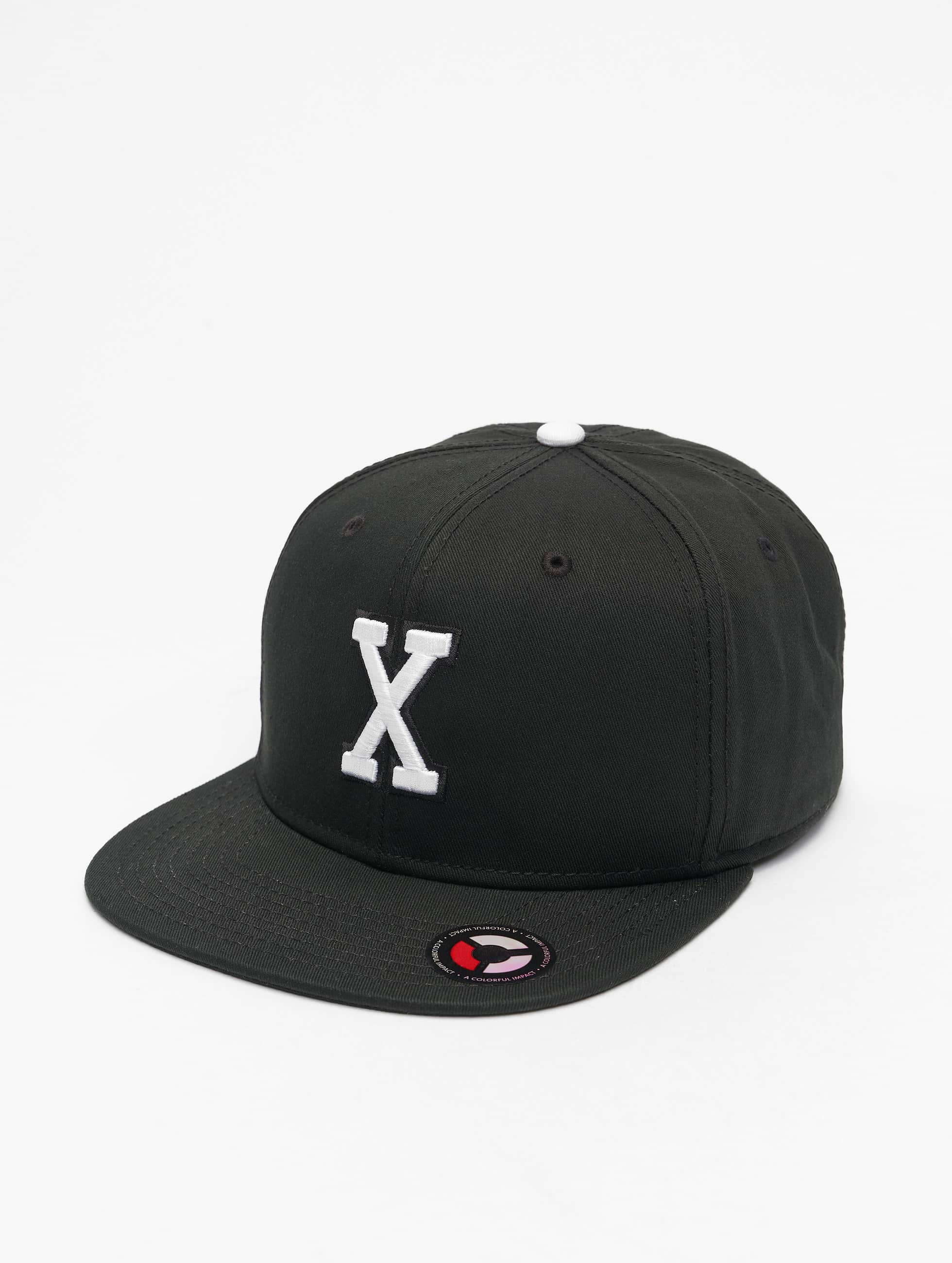 MSTRDS Snapback Caps X Letter musta