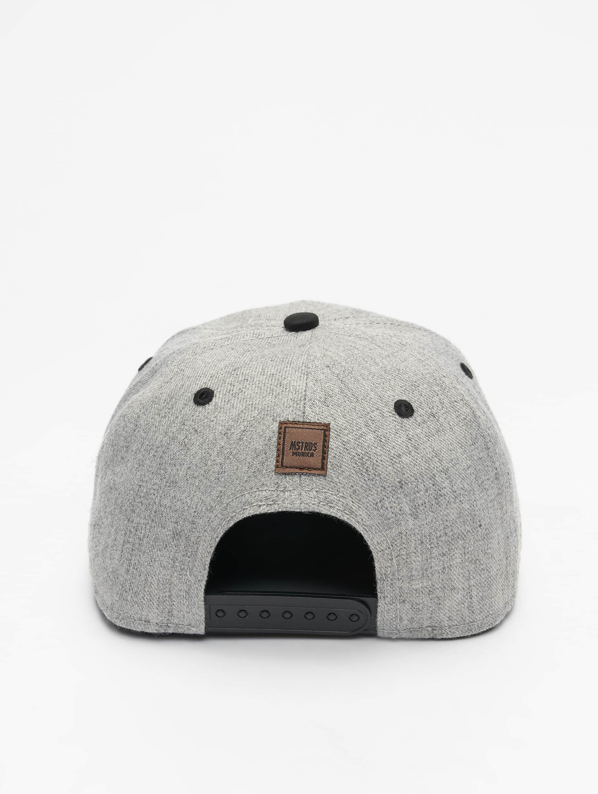MSTRDS Snapback Caps R Letter szary