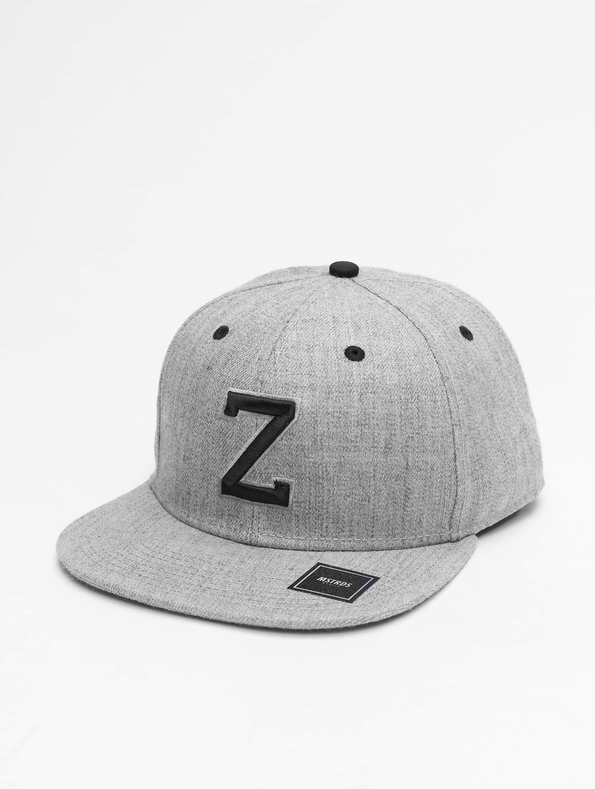 MSTRDS Snapback Caps Z Letter szary